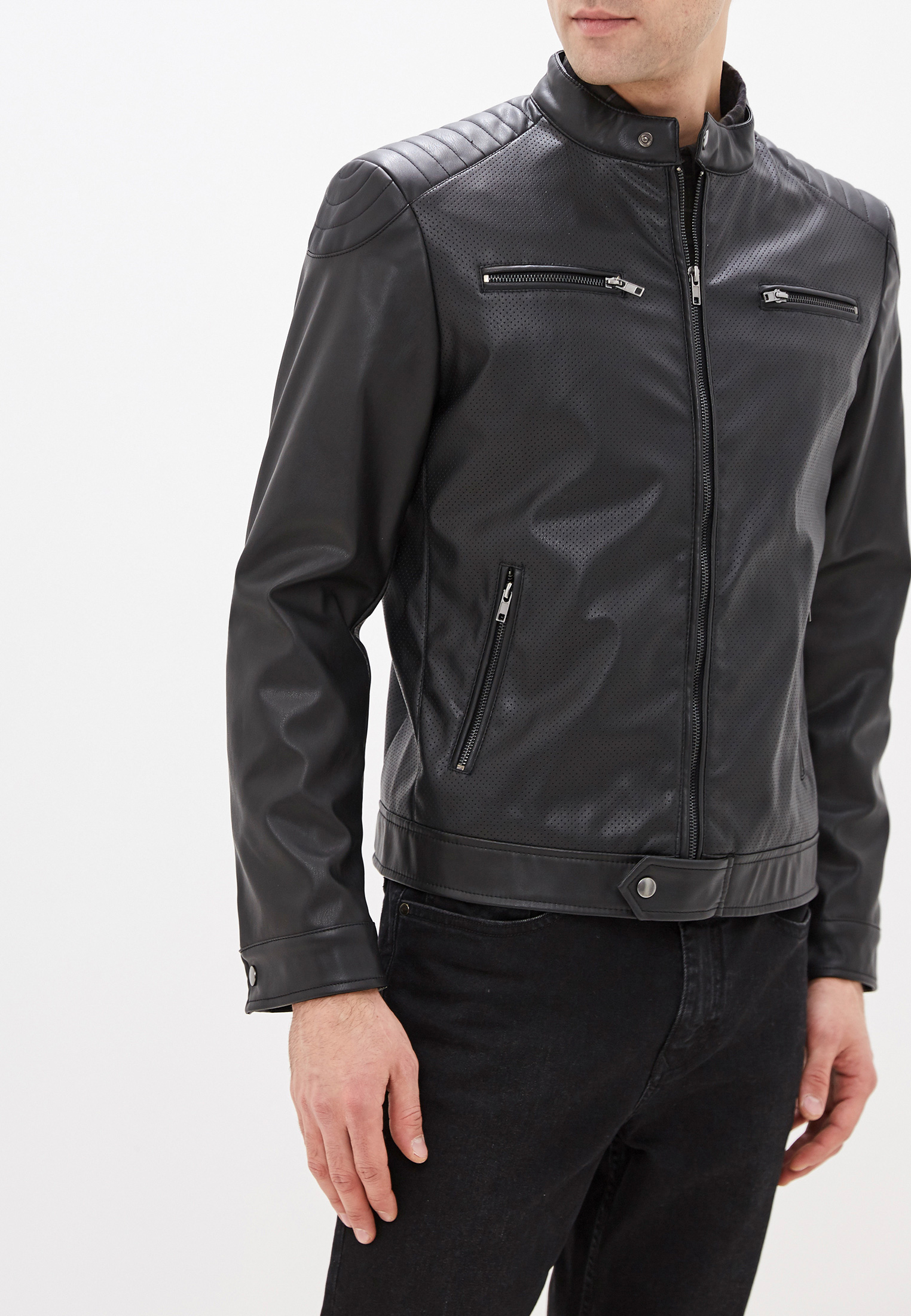 Кожаная куртка OVS 576548