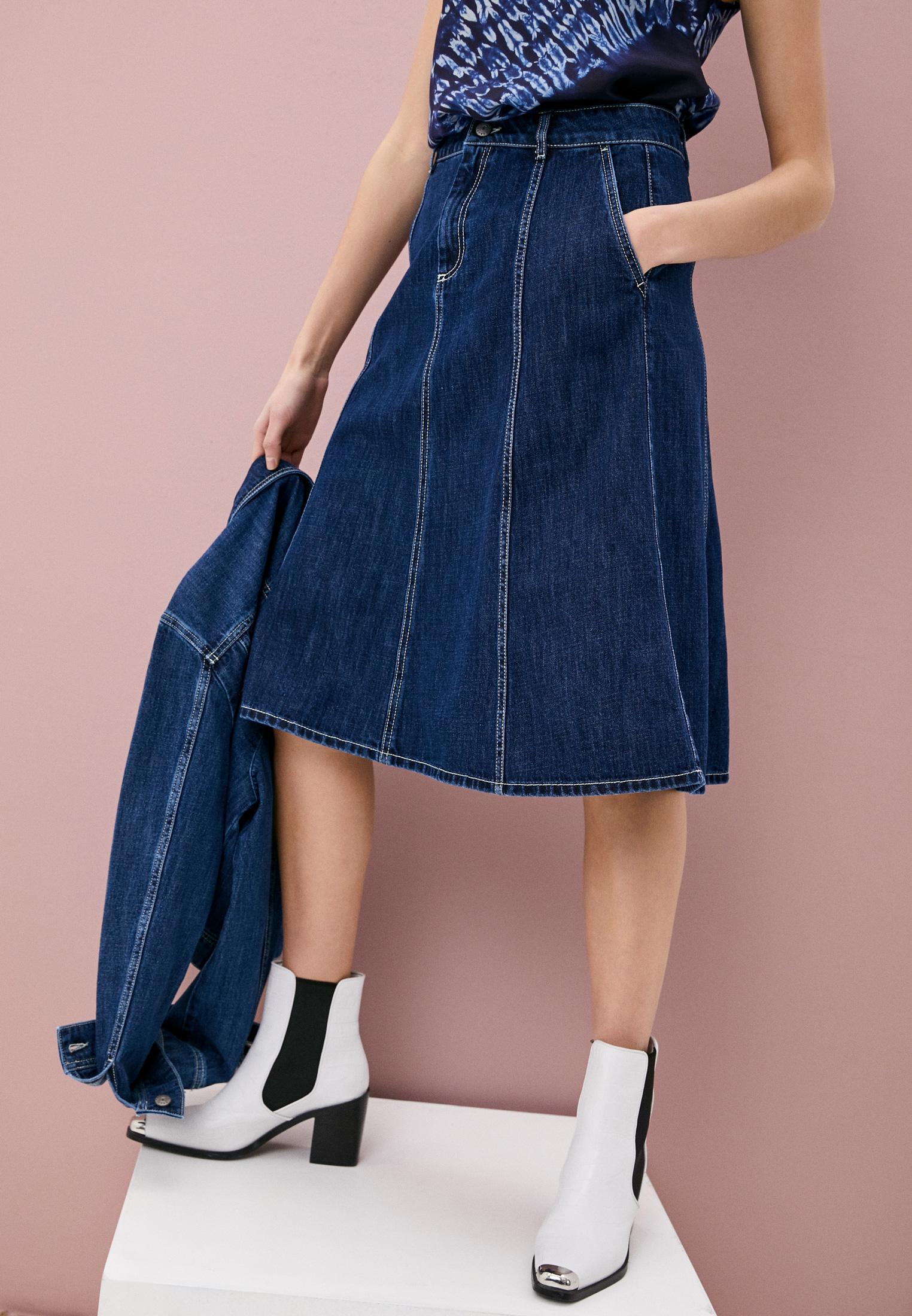 Джинсовая юбка P.A.R.O.S.H. CEANSID620407: изображение 2