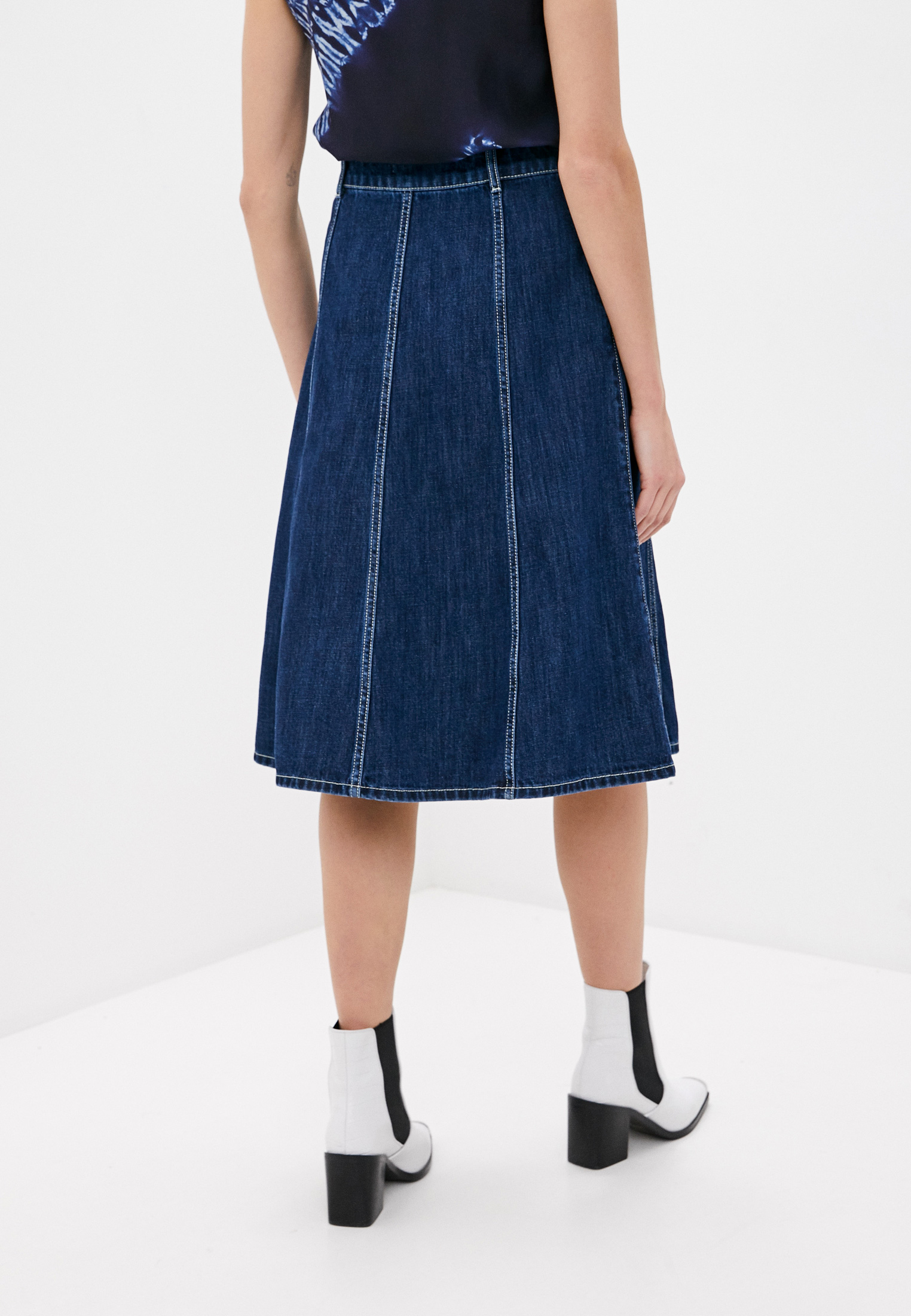 Джинсовая юбка P.A.R.O.S.H. CEANSID620407: изображение 4