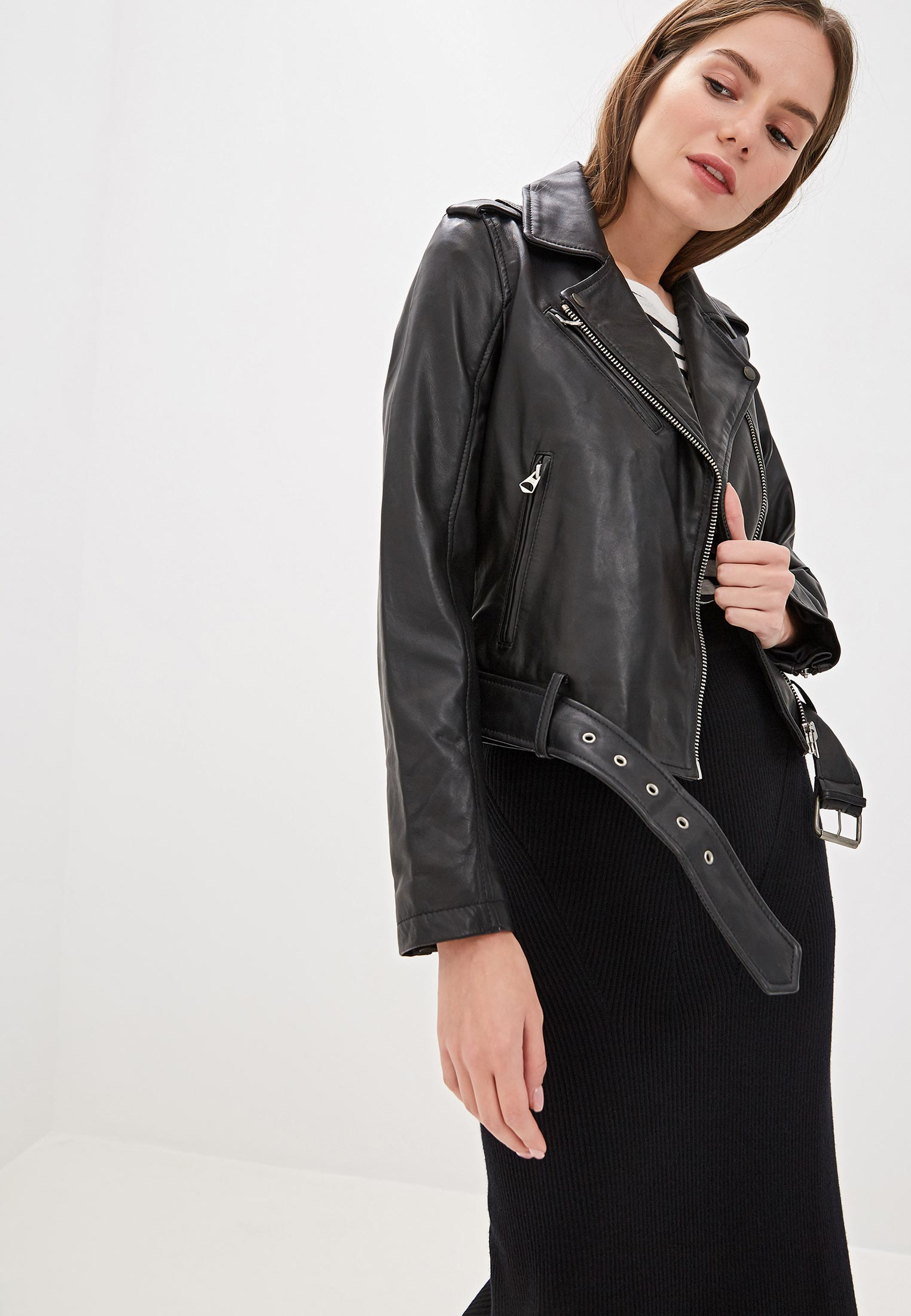Кожаная куртка Pepe Jeans (Пепе Джинс) PL401675