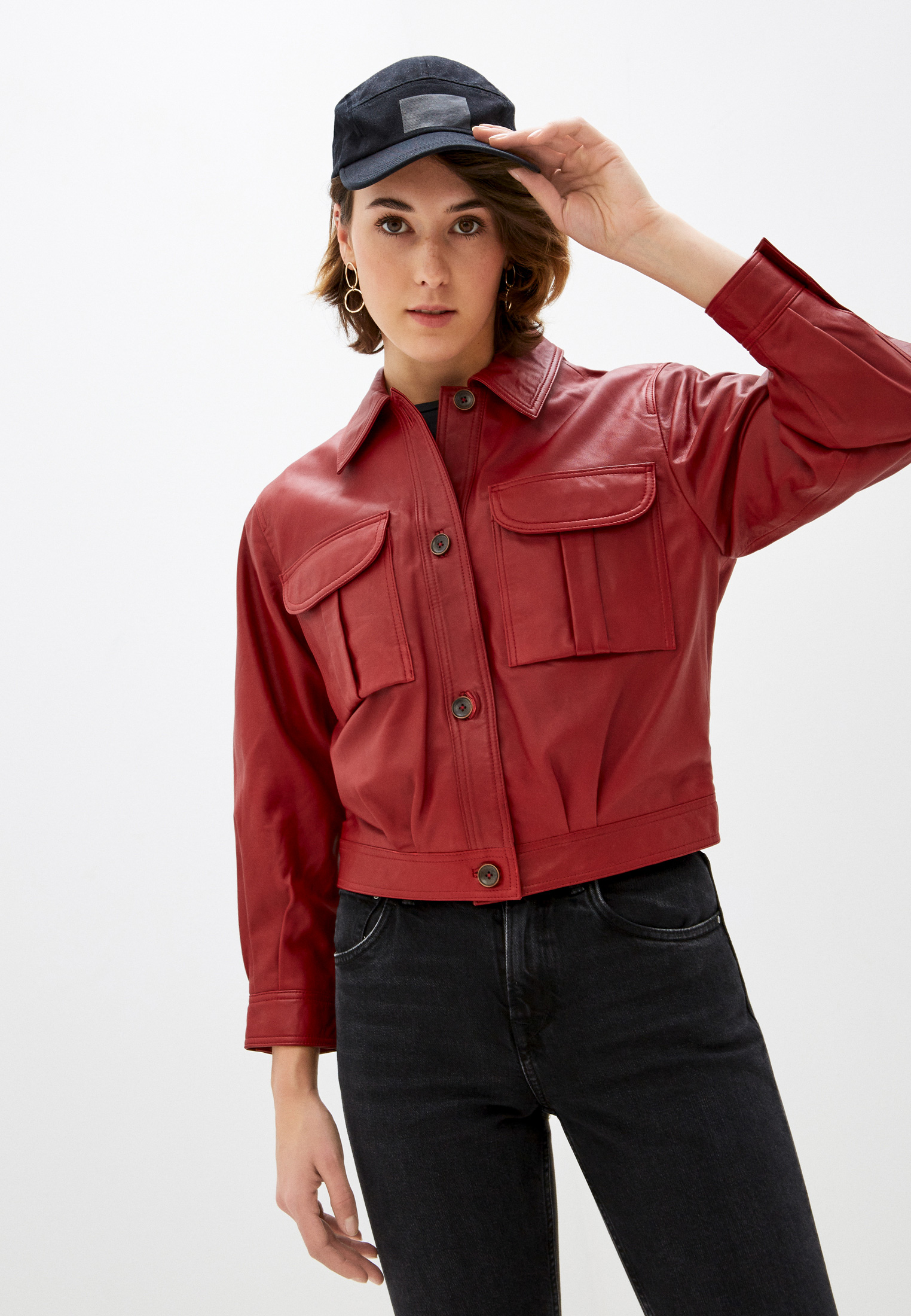 Кожаная куртка Pepe Jeans (Пепе Джинс) PL401838
