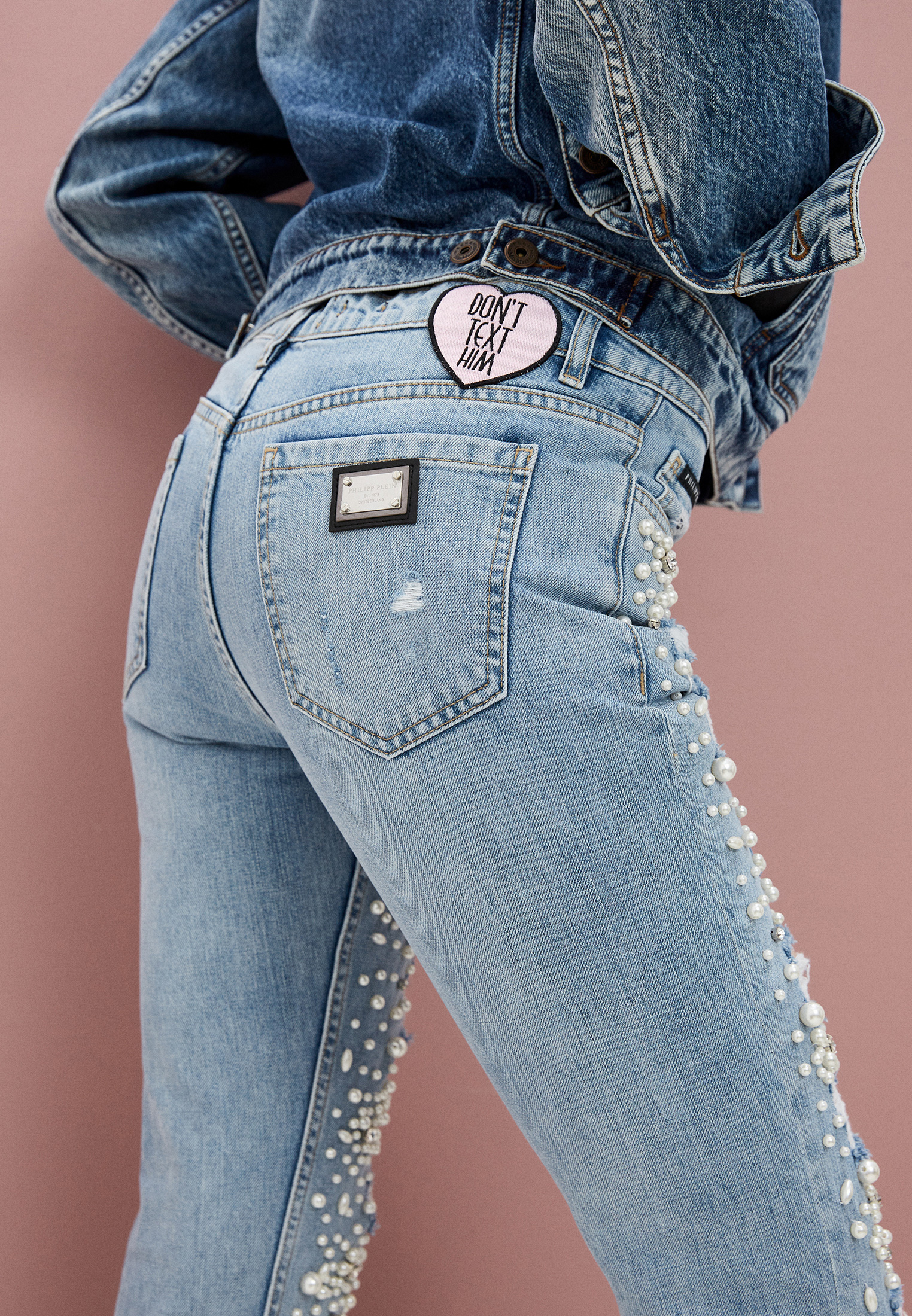 Зауженные джинсы Philipp Plein A17C WDT0462 PDE004N: изображение 2