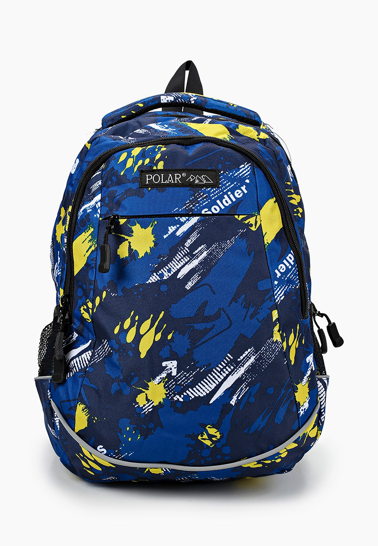 Рюкзак Polar 18302 Yellow/D.Blue