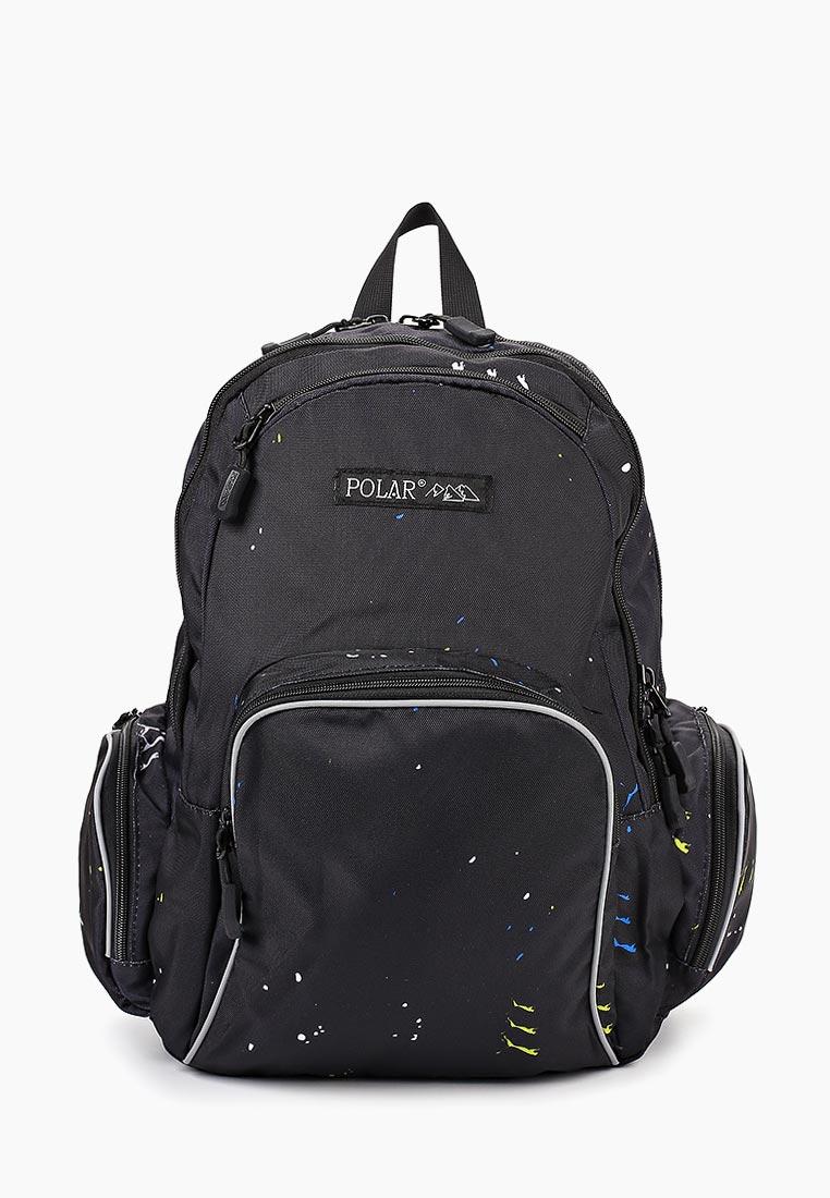 Городской рюкзак Polar 17303 Black/Leopard