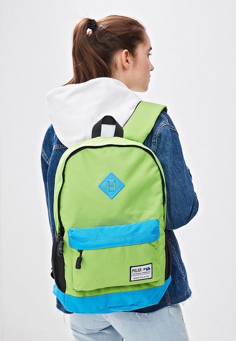 Городской рюкзак Polar 15008 Green-Blue: изображение 5