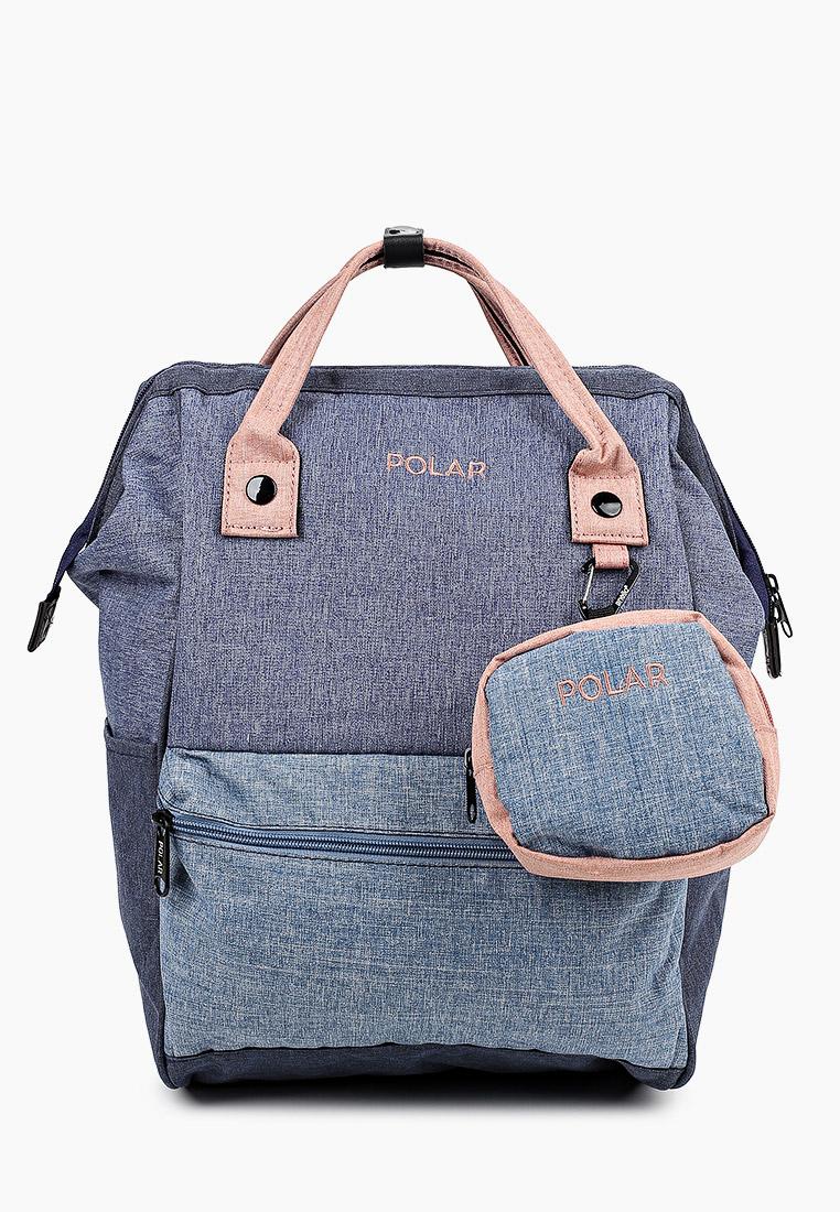 Городской рюкзак Polar 18234 Denim/pink