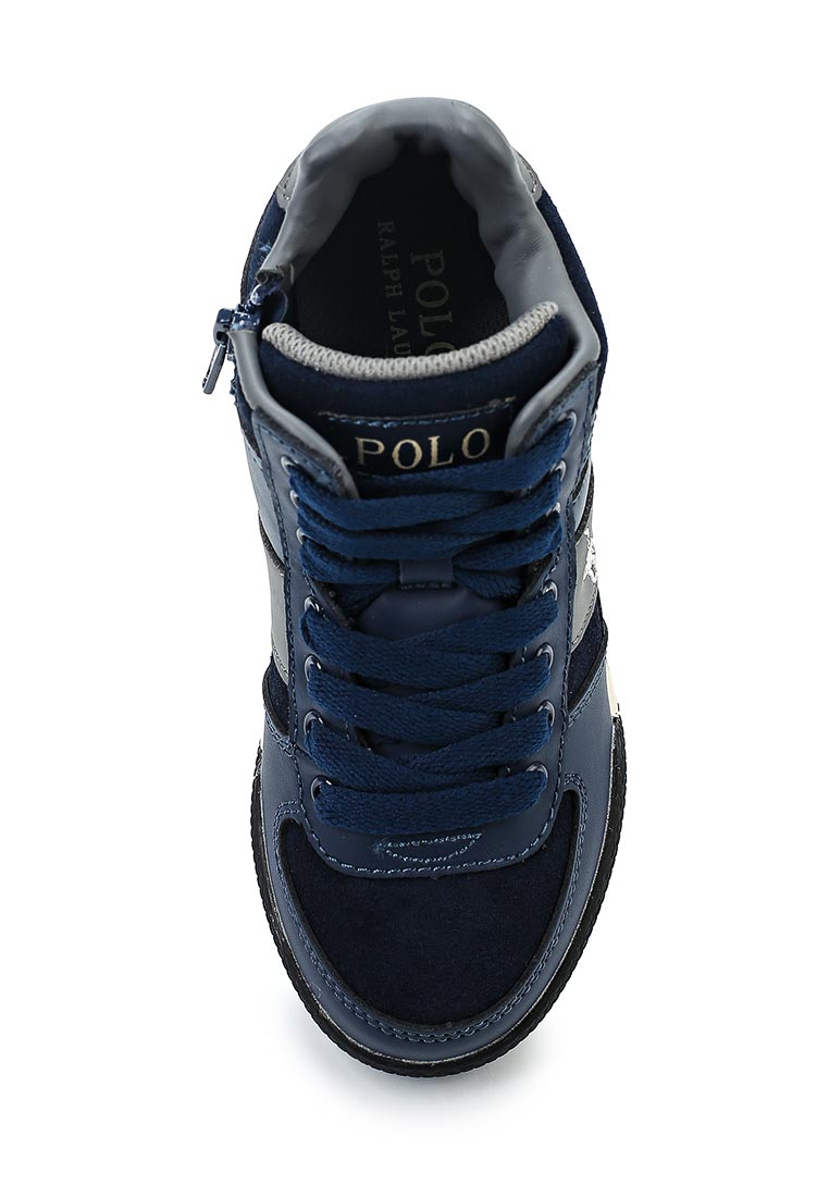 Кеды для мальчиков Polo Ralph Lauren (Поло Ральф Лорен) Speed 67 Mid Zip: изображение 4