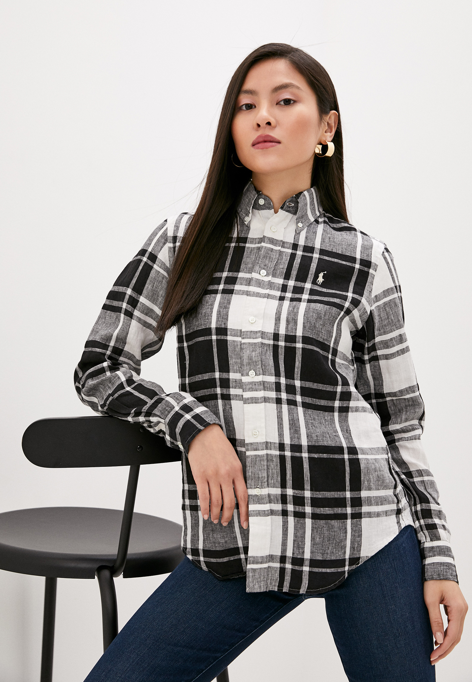 Женские рубашки с длинным рукавом Polo Ralph Lauren (Поло Ральф Лорен) 211798167001
