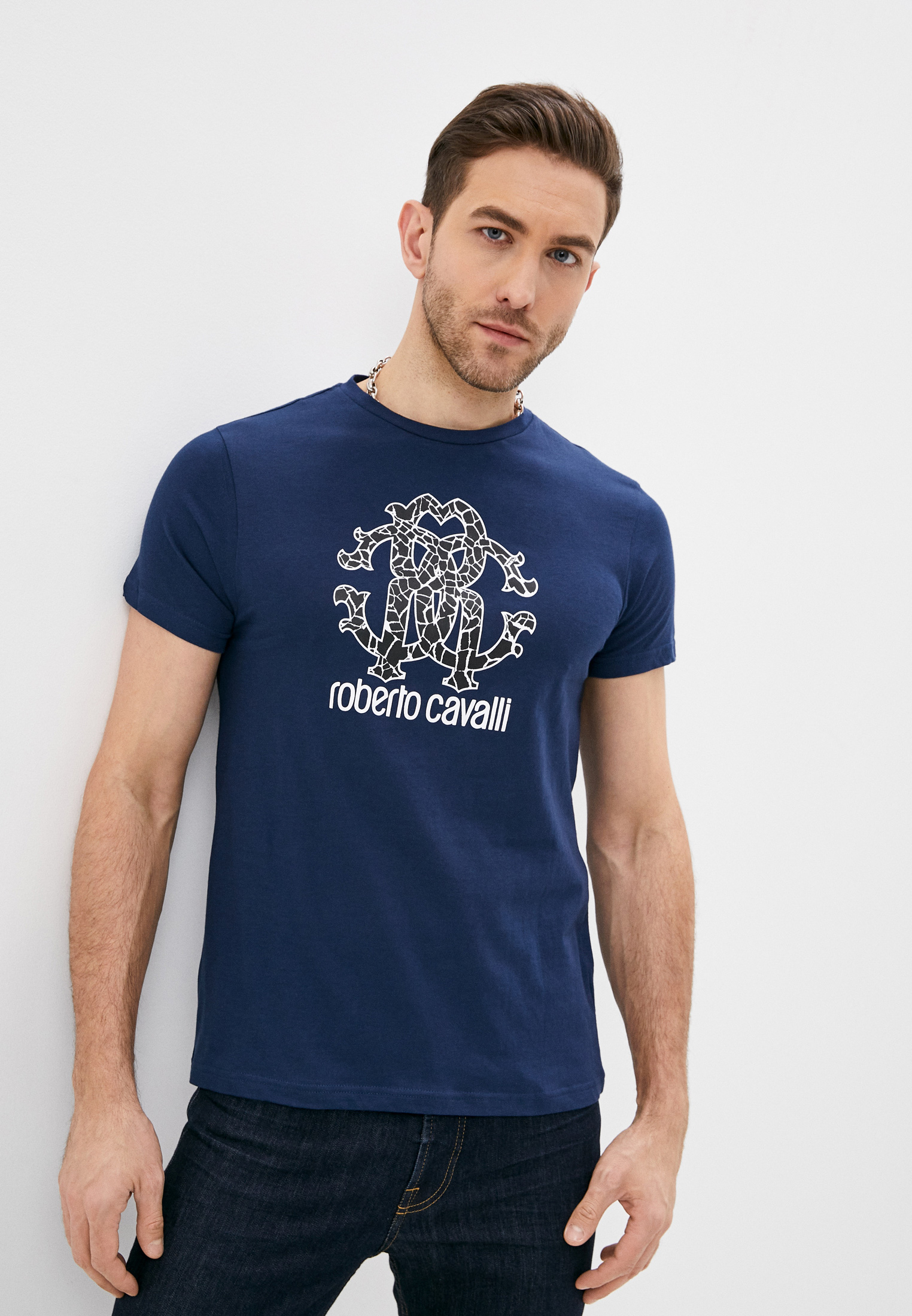 Мужская футболка Roberto Cavalli (Роберто Кавалли) HSH00T0
