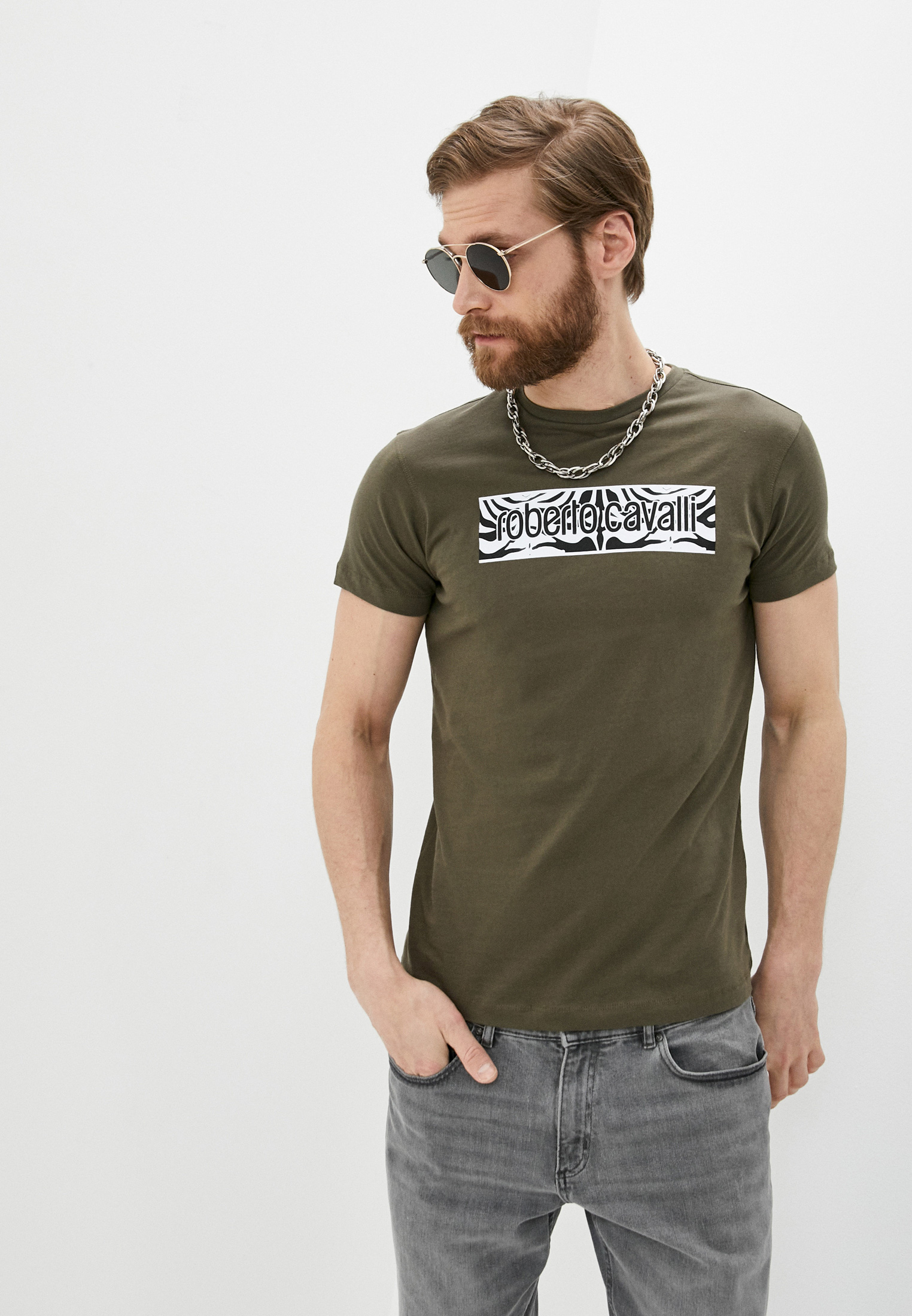 Мужская футболка Roberto Cavalli (Роберто Кавалли) HST60EA0270