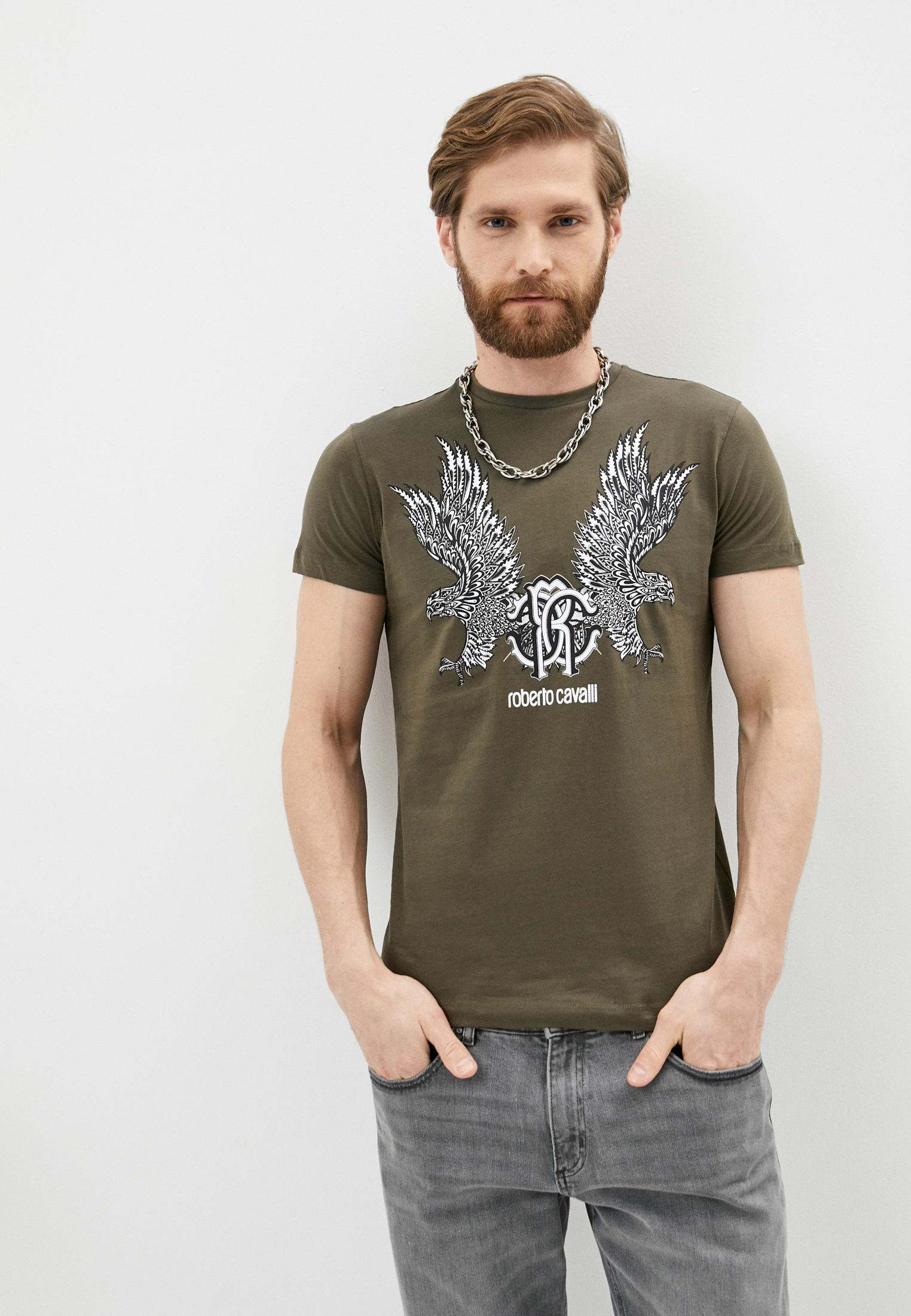 Мужская футболка Roberto Cavalli (Роберто Кавалли) HST60FA0270