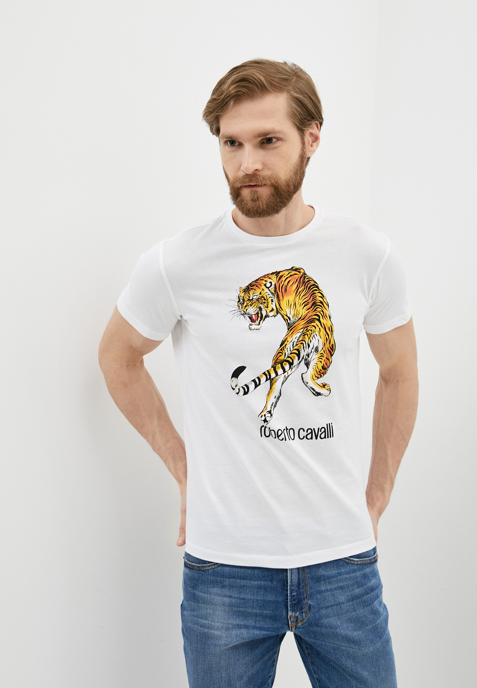 Мужская футболка Roberto Cavalli (Роберто Кавалли) HST61DA0270