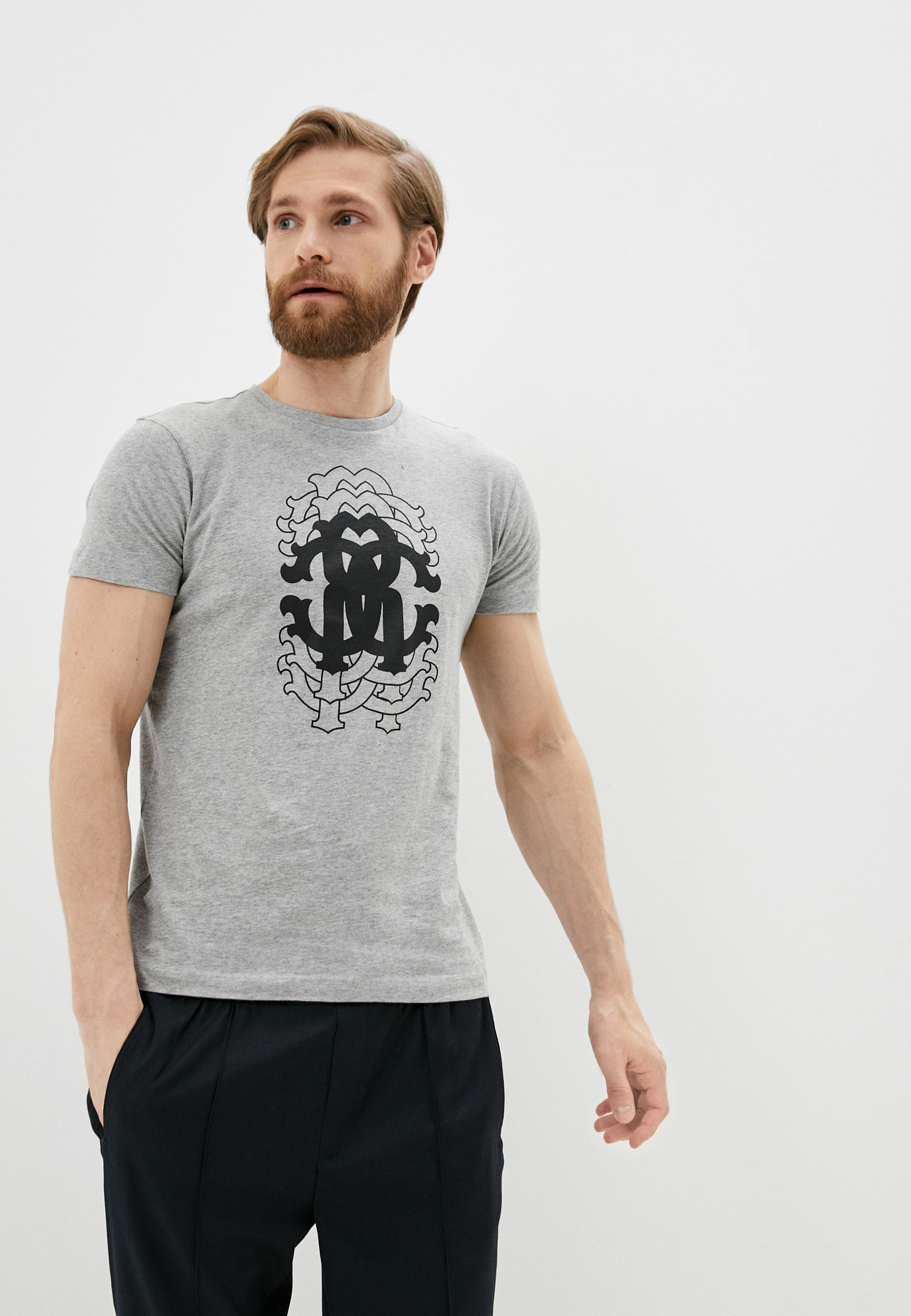 Мужская футболка Roberto Cavalli (Роберто Кавалли) HST61EA0270