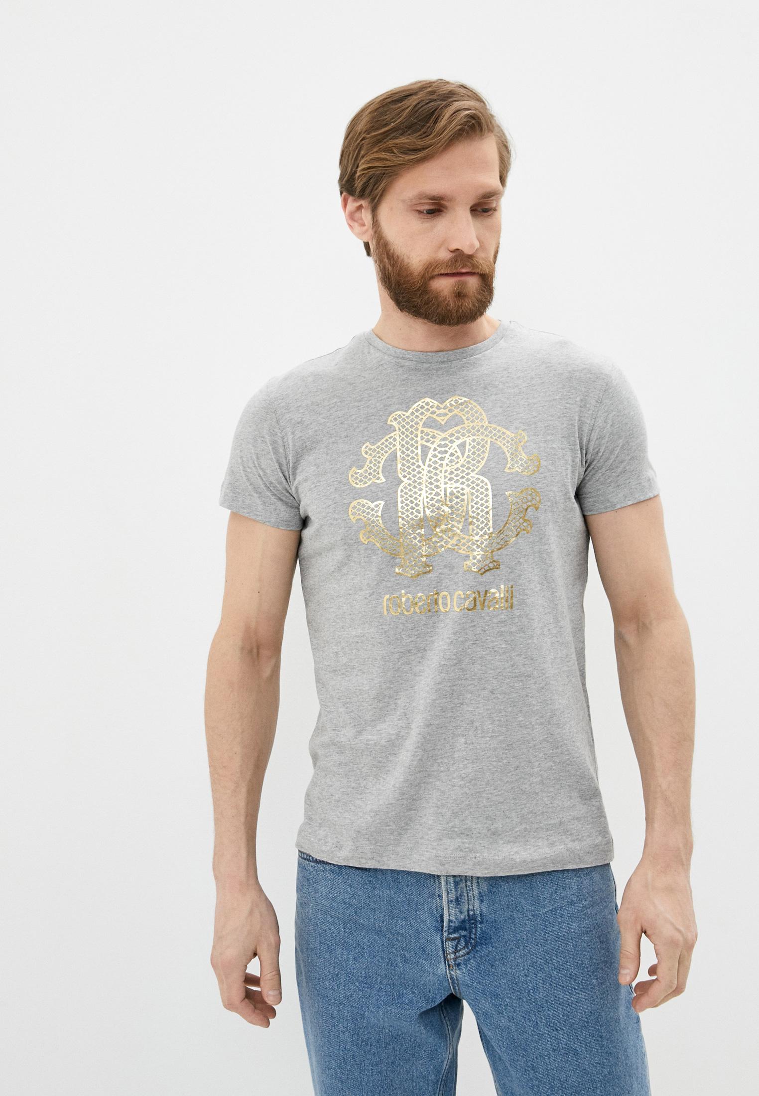 Мужская футболка Roberto Cavalli (Роберто Кавалли) HST62EA0270