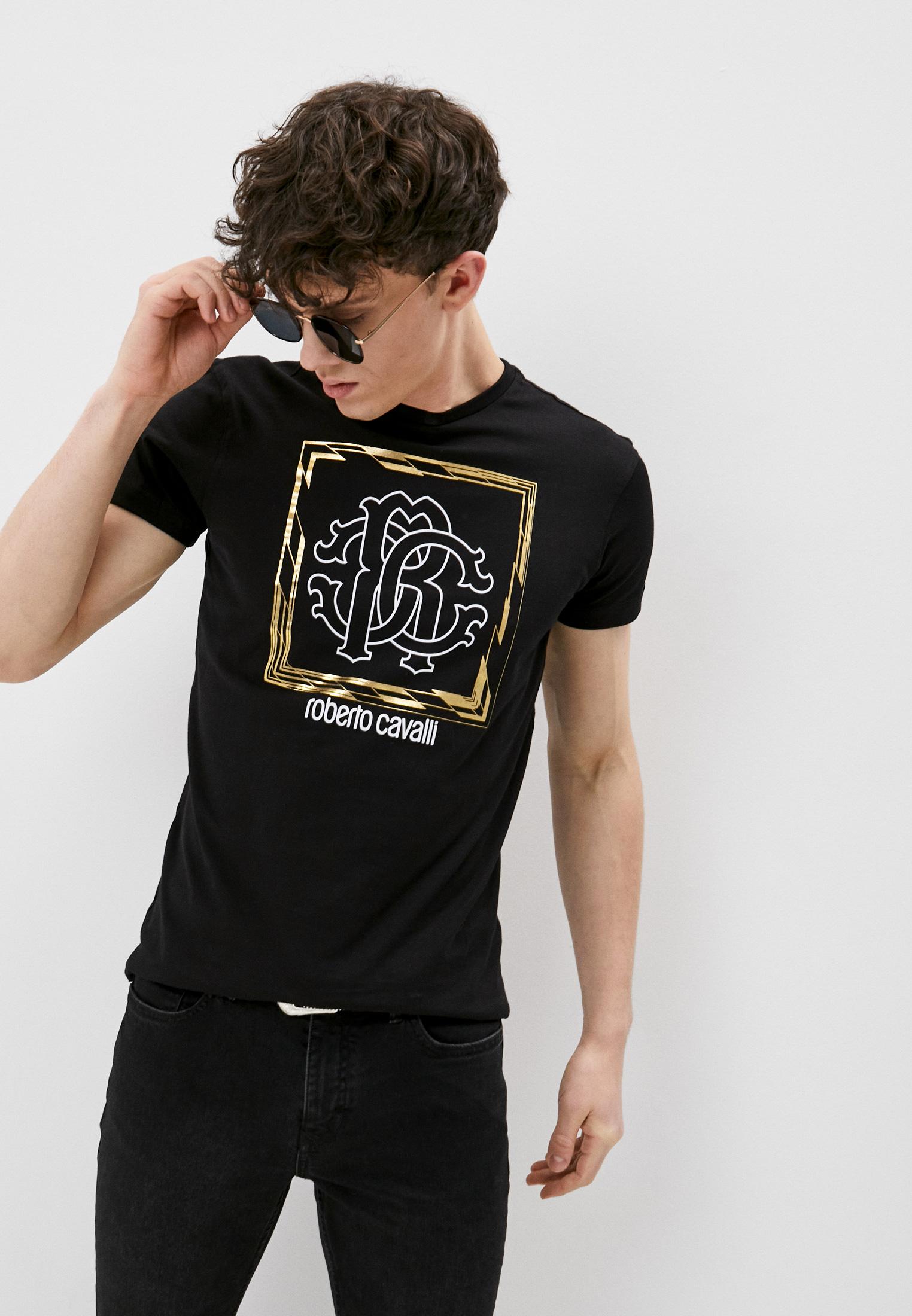 Мужская футболка Roberto Cavalli (Роберто Кавалли) HST63EA0270