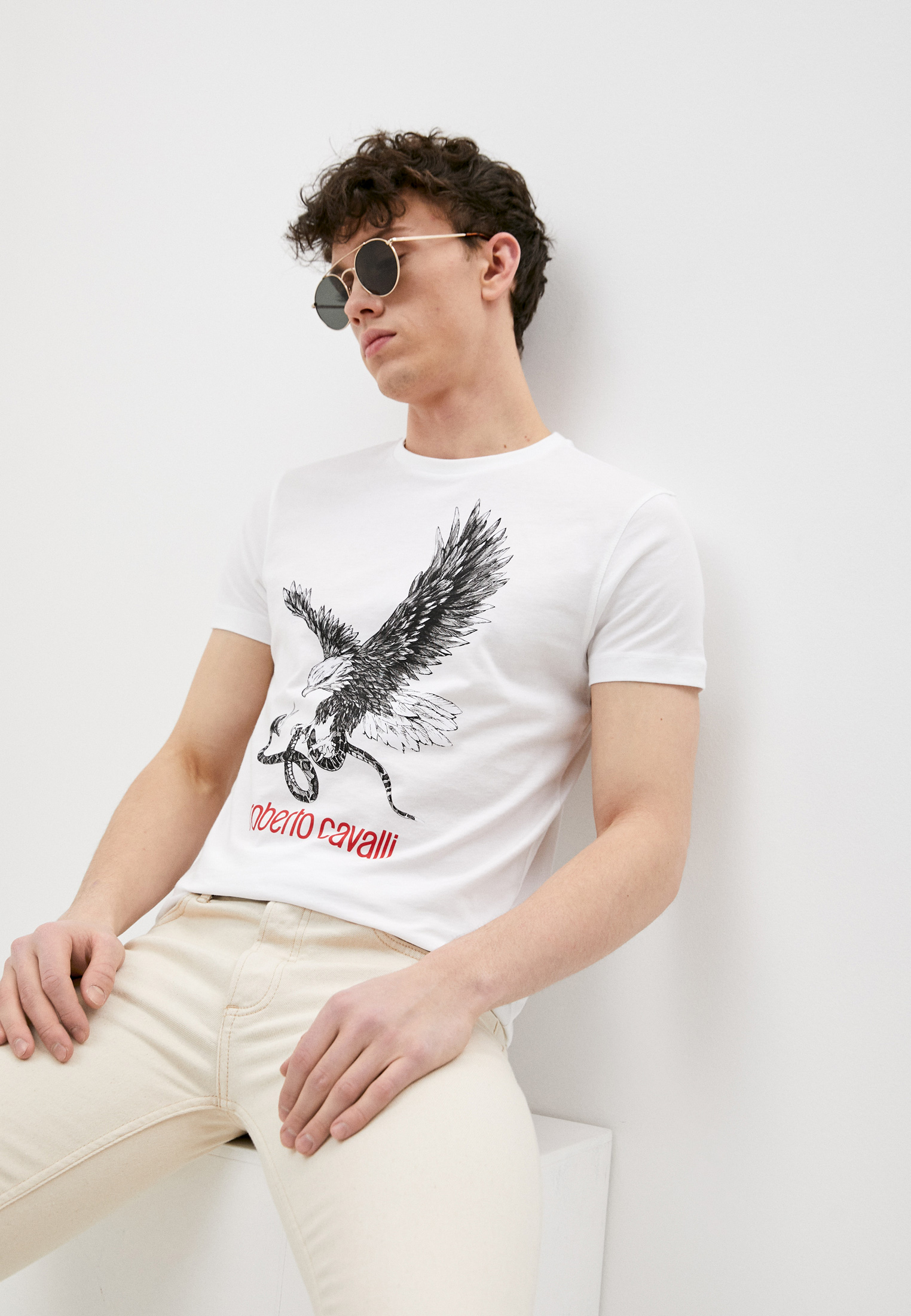 Мужская футболка Roberto Cavalli (Роберто Кавалли) HST65EA0270