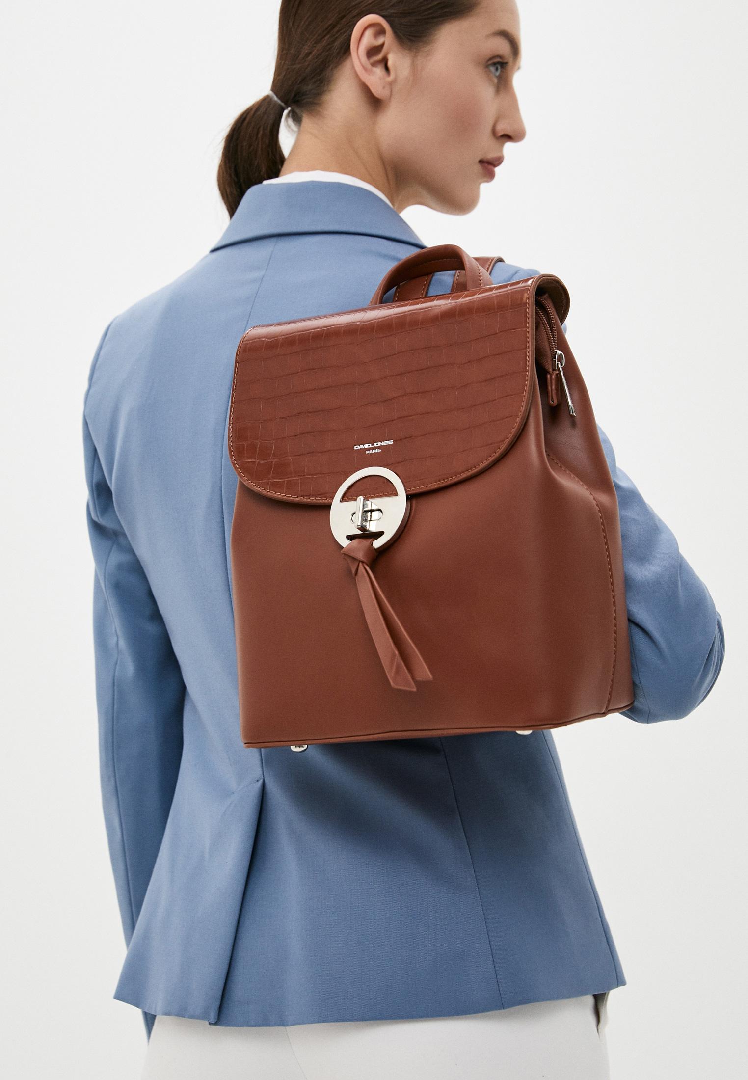 Городской рюкзак David Jones (Дэвид Джонс) 6505-2_коричневый: изображение 4