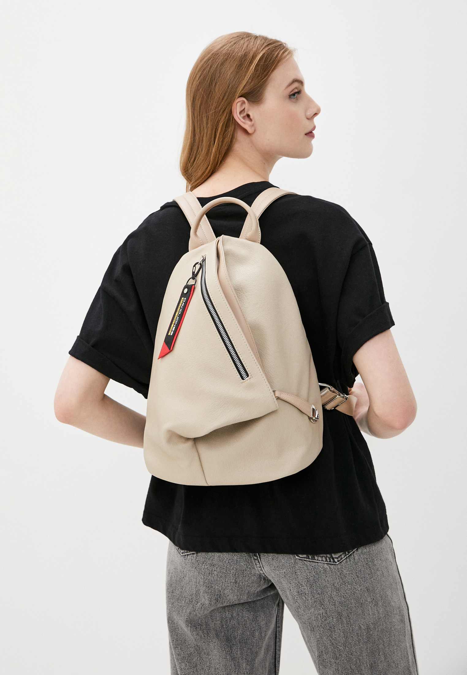 Городской рюкзак David Jones (Дэвид Джонс) CM6008_бежевый: изображение 4