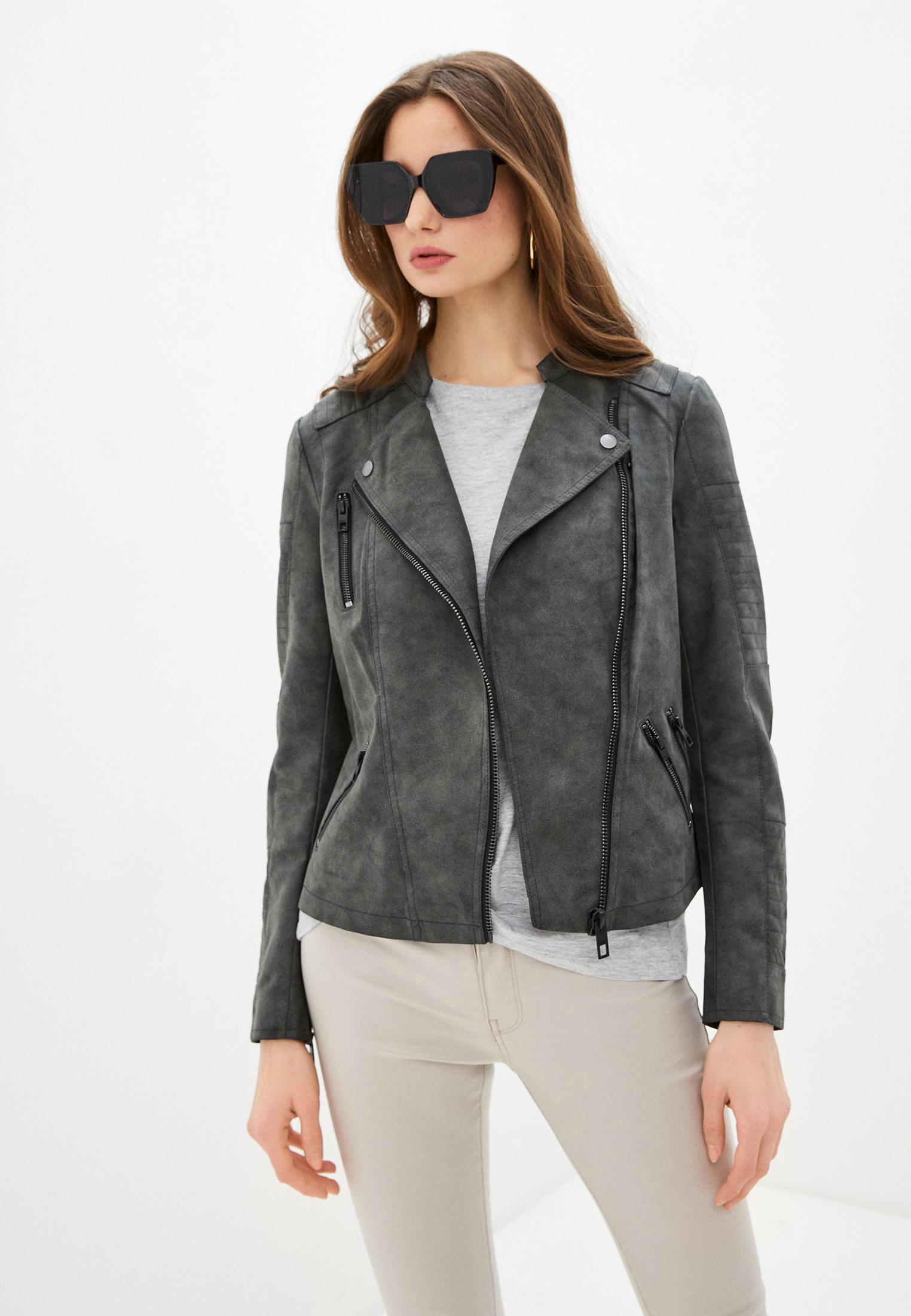 Кожаная куртка Only (Онли) Куртка кожаная Only