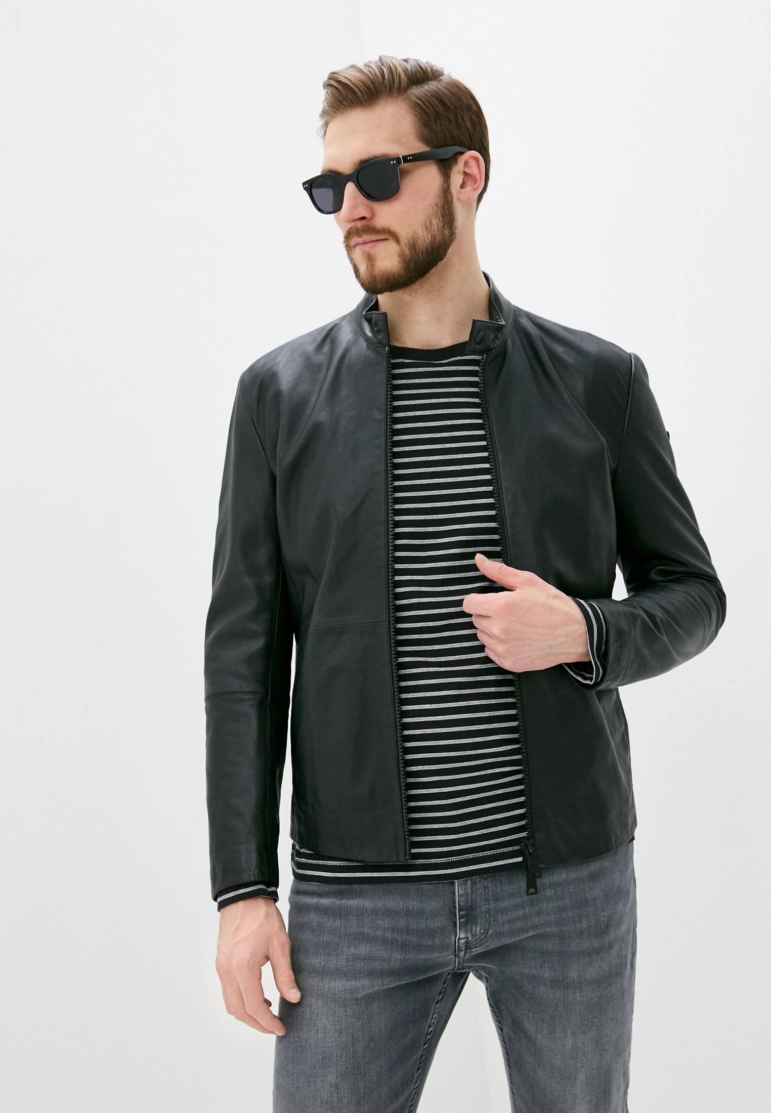 Кожаная куртка Emporio Armani (Эмпорио Армани) 01B50P01P50