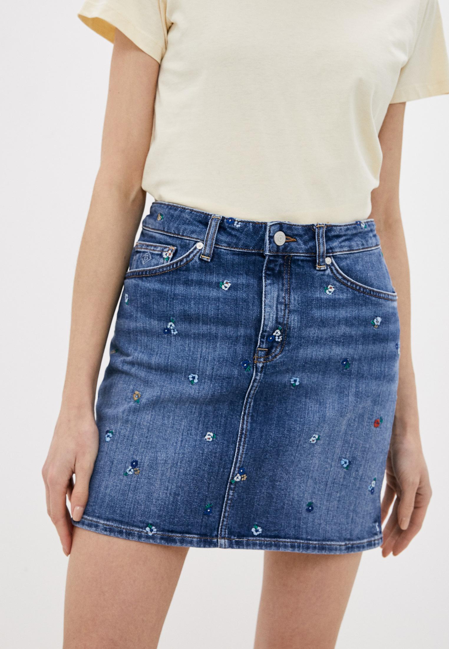 Джинсовая юбка Gant (Гант) Юбка джинсовая Gant