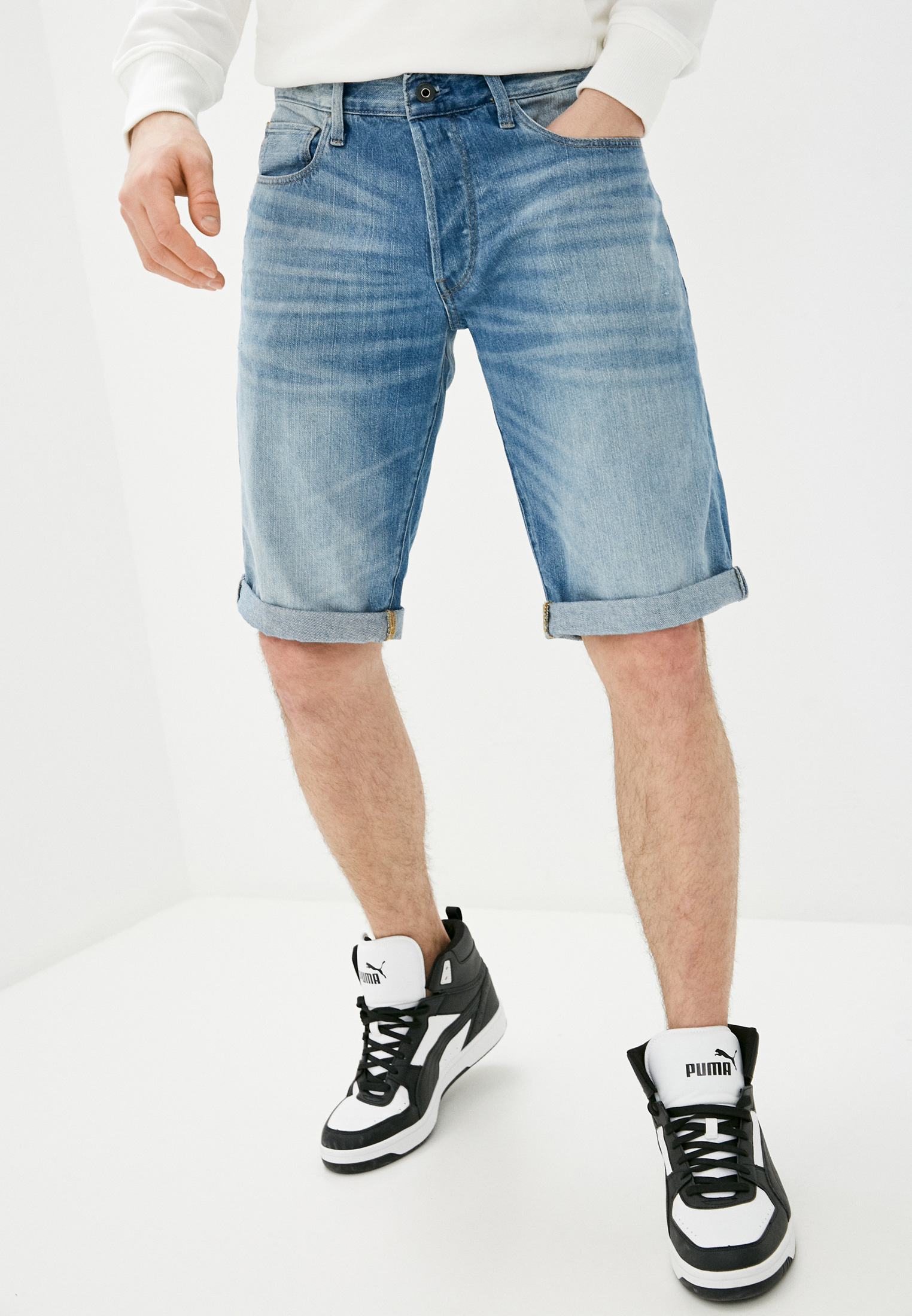 Мужские джинсовые шорты G-Star Шорты джинсовые G-Star