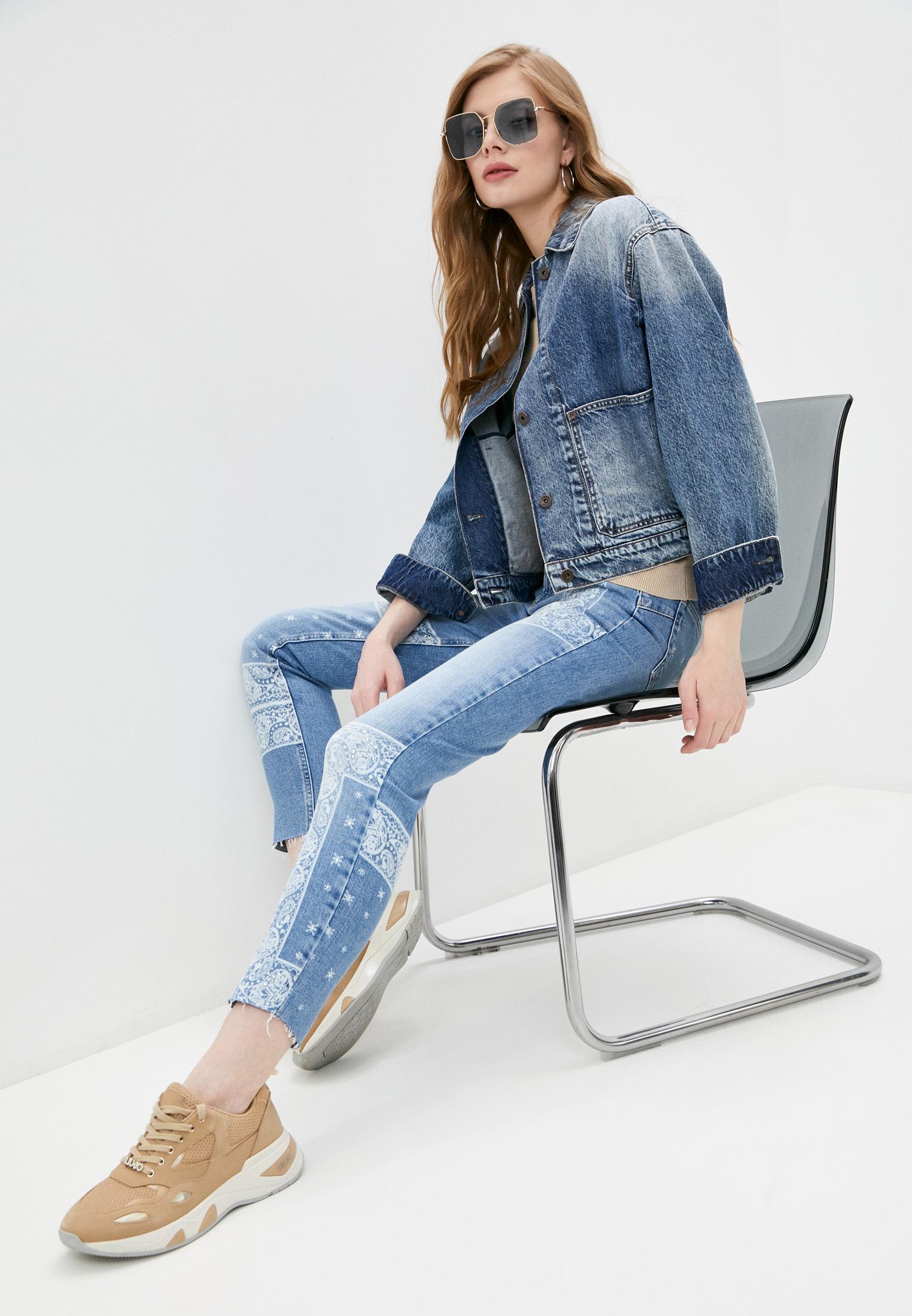 Зауженные джинсы Liu Jo (Лиу Джо) UA1034 D4588: изображение 3