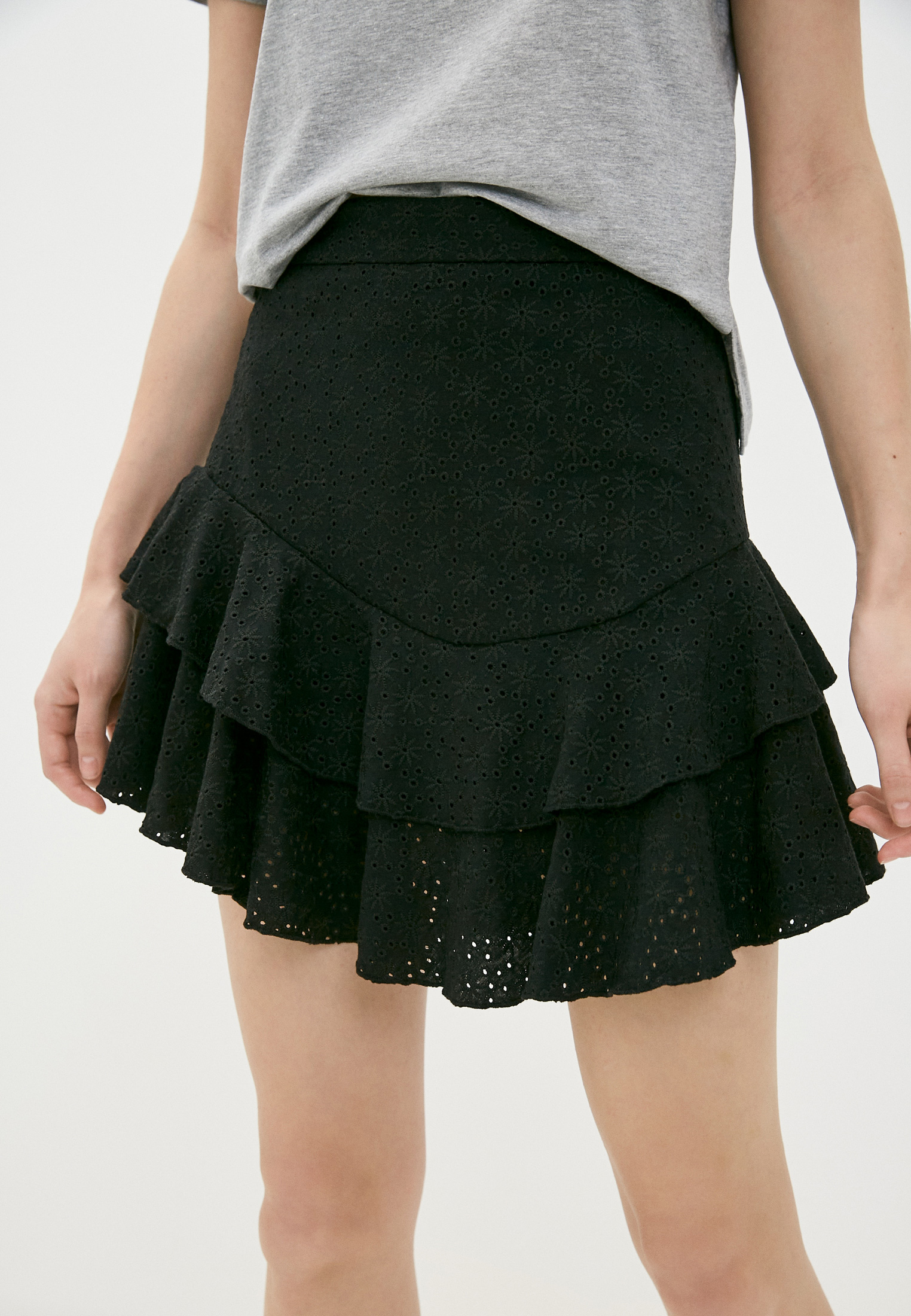 Широкая юбка Guess Jeans W1GD0F KALQ0