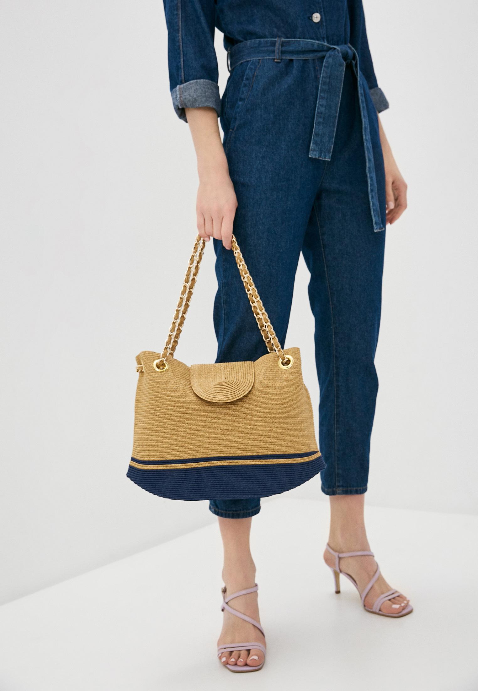 Пляжная сумка Fabretti GB10-1 beige/blue