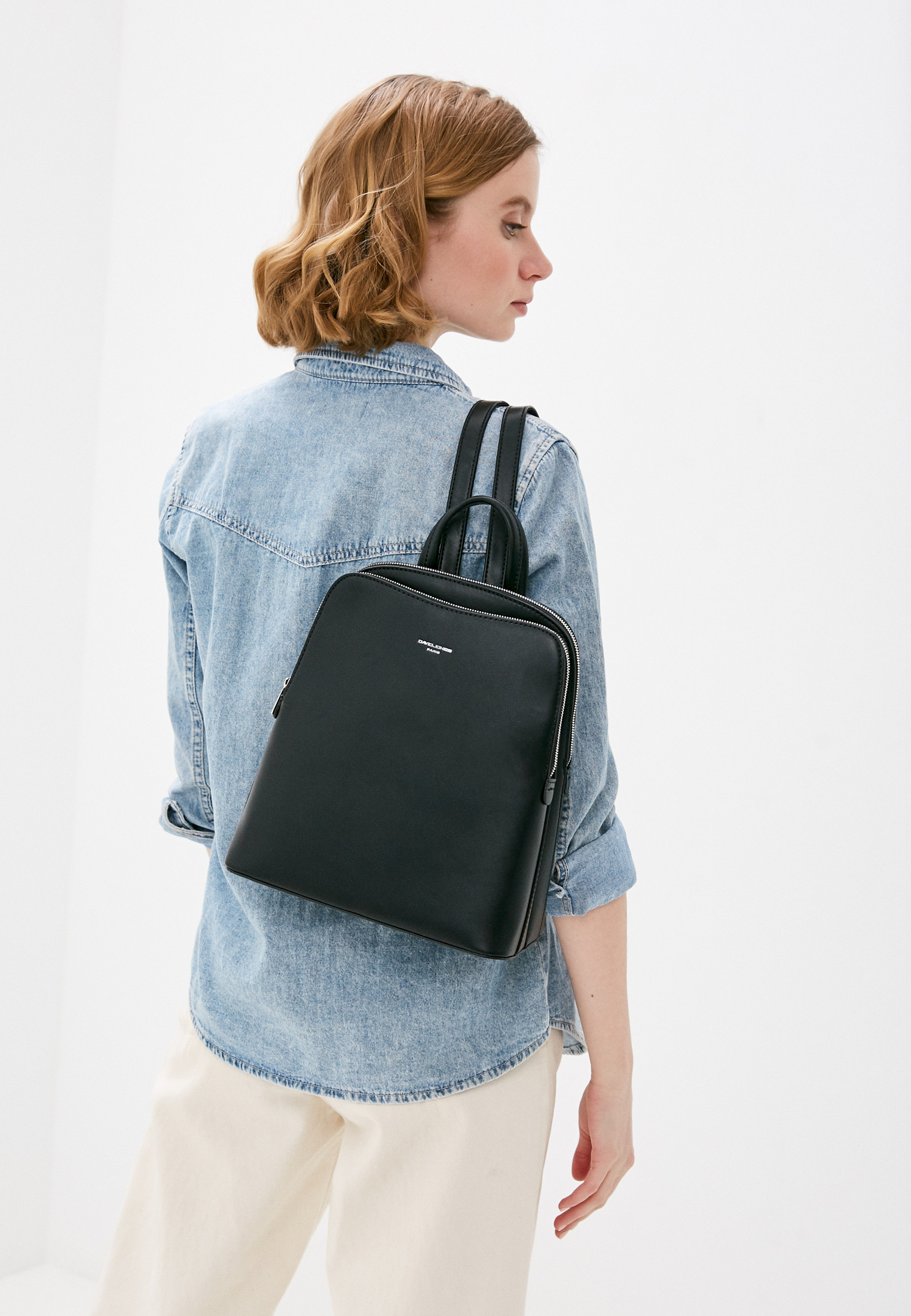 Городской рюкзак David Jones (Дэвид Джонс) 6502-2_черный: изображение 4