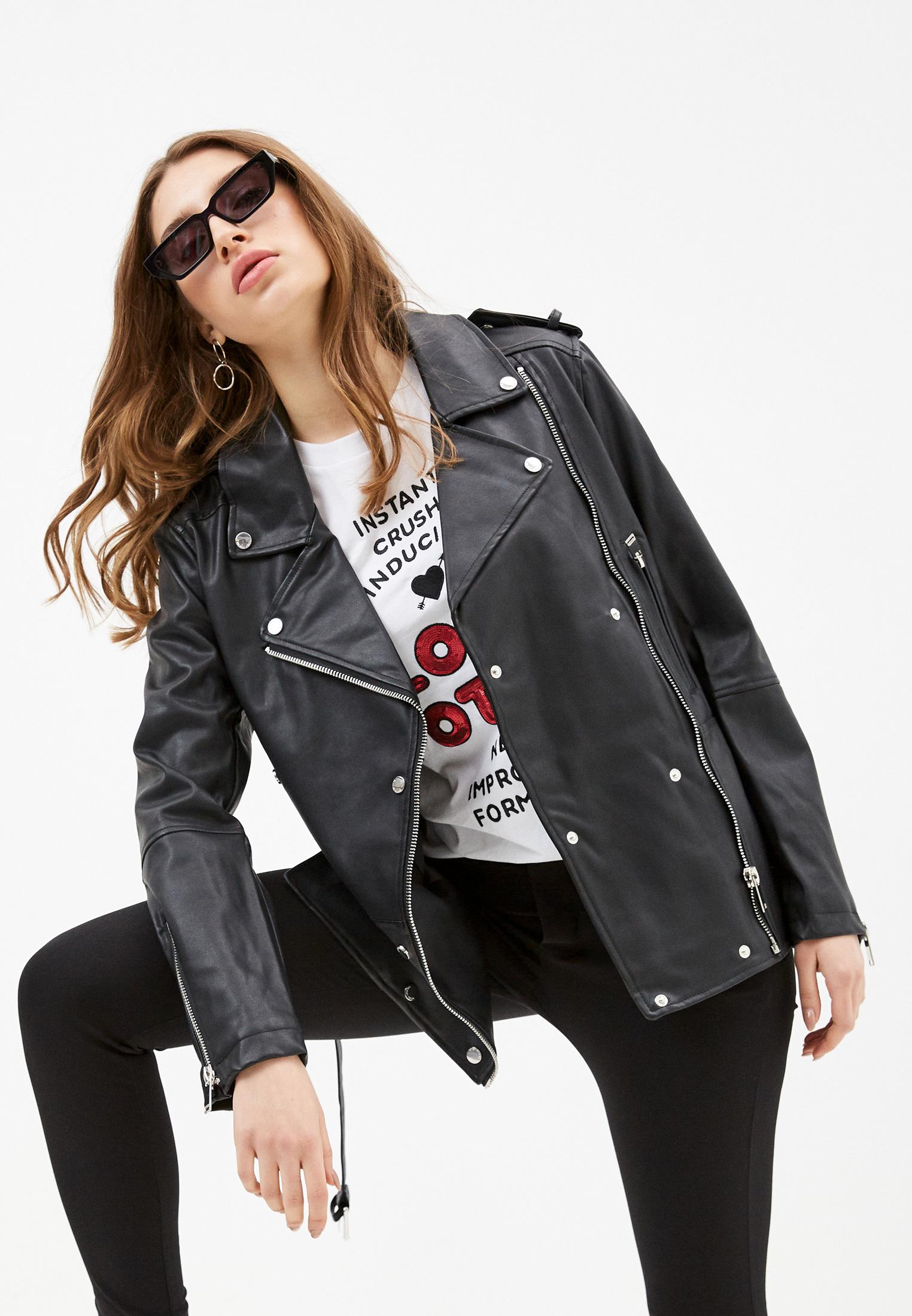 Кожаная куртка Silvian Heach Куртка кожаная Silvian Heach