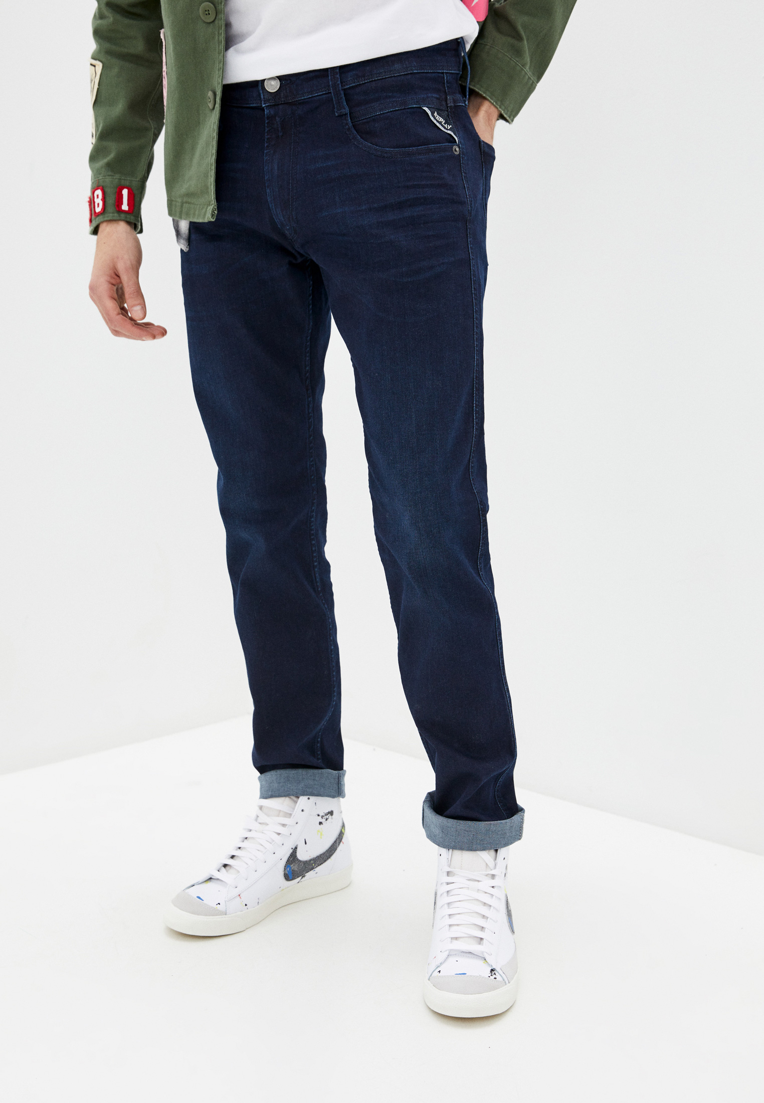 Зауженные джинсы Replay (Реплей) M914.000.41A781
