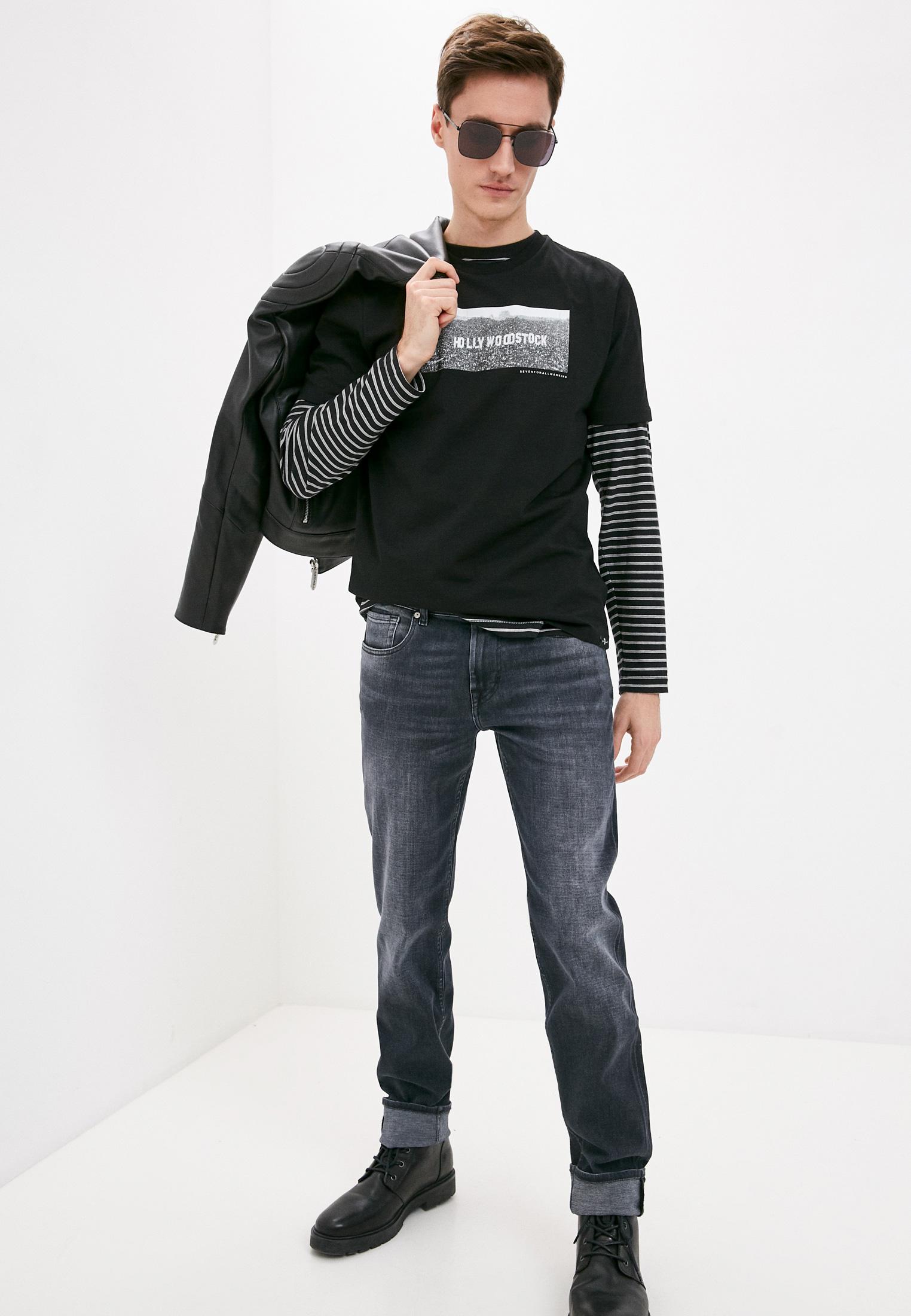 Мужские прямые джинсы 7 For All Mankind (7 Фо Олл Мэнкайнд) JSMSB460LE: изображение 3