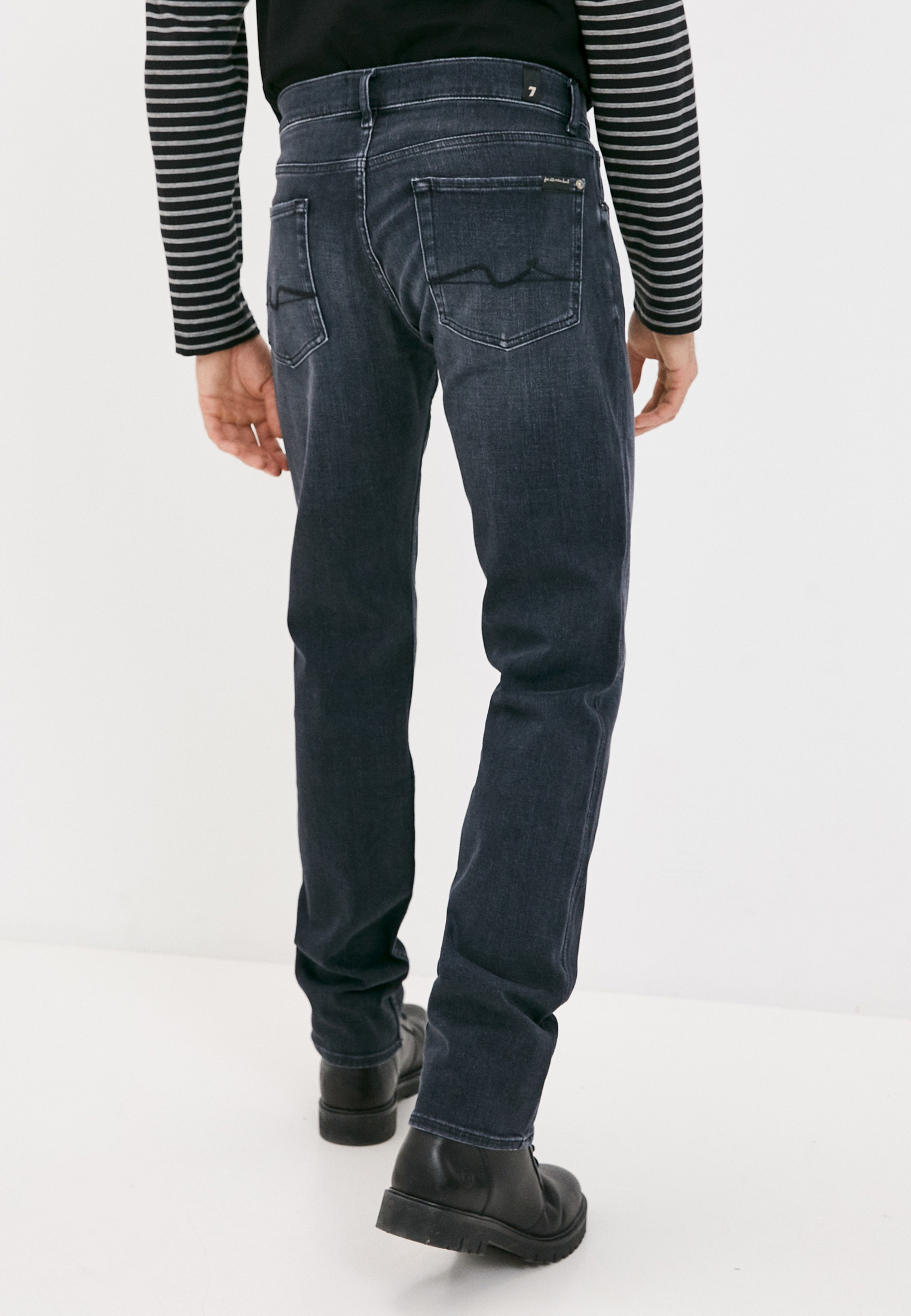 Мужские прямые джинсы 7 For All Mankind (7 Фо Олл Мэнкайнд) JSMSB460LE: изображение 4