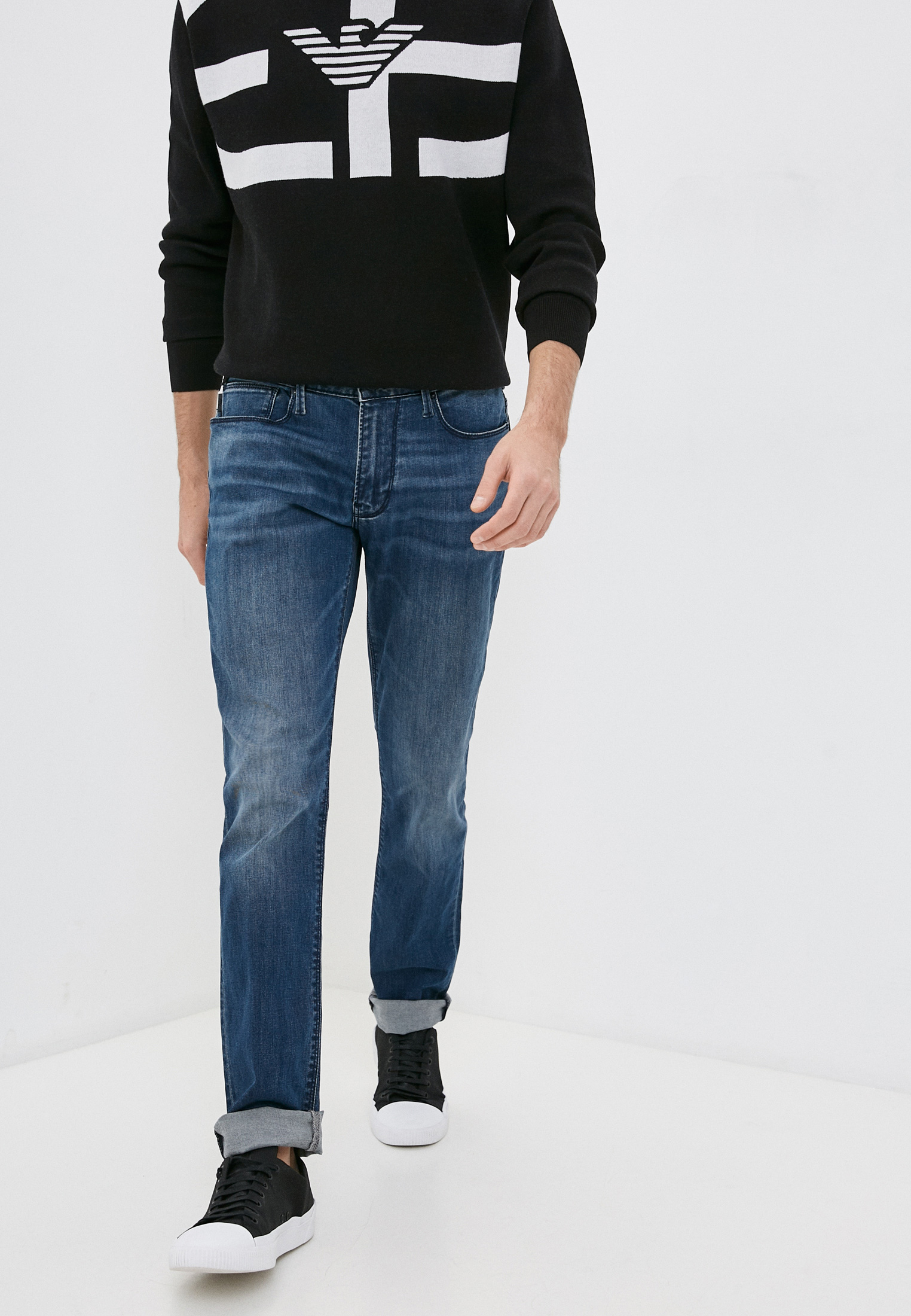 Мужские зауженные джинсы Emporio Armani (Эмпорио Армани) 8N1J061F19Z