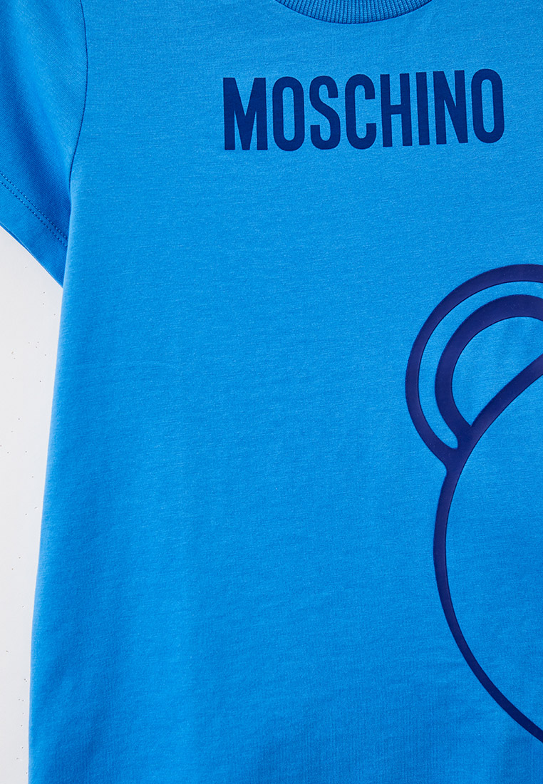 Футболка с коротким рукавом MOSCHINO KID HZM02S: изображение 3