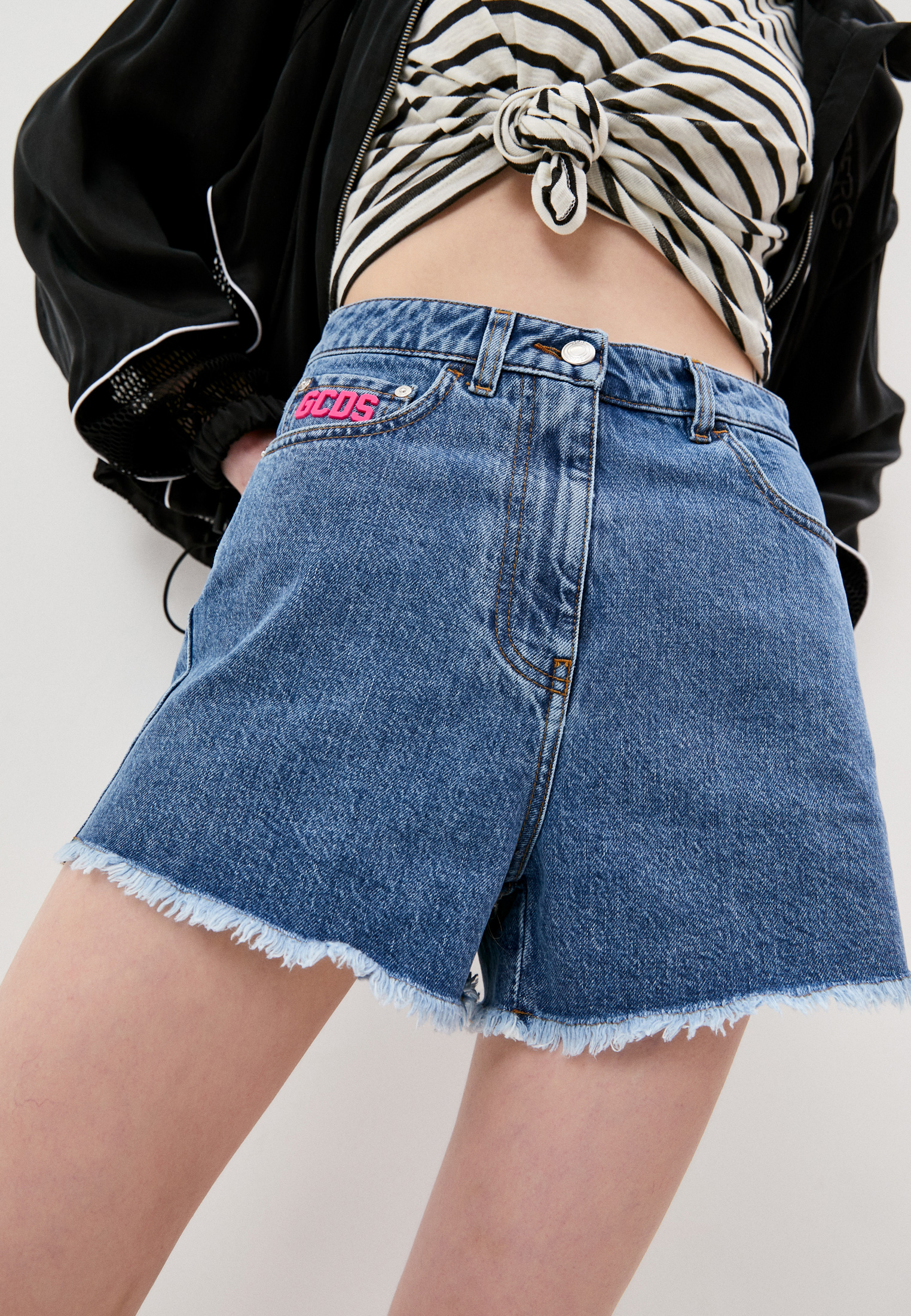 Женские джинсовые шорты GCDS Шорты джинсовые GCDS