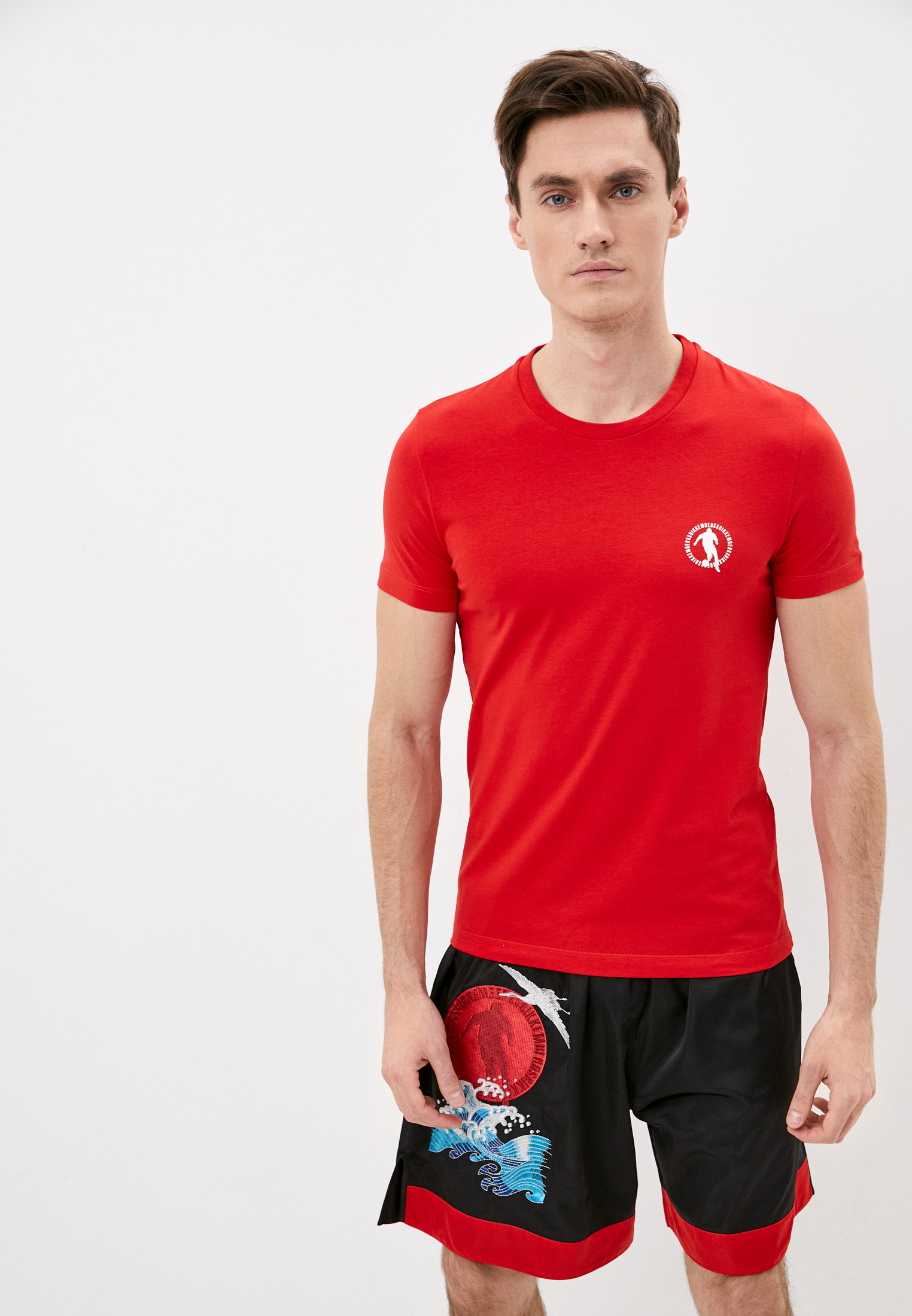 Мужская футболка Bikkembergs (Биккембергс) C701619E1823O81