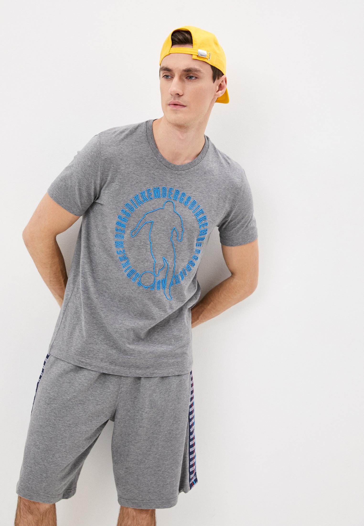 Мужская футболка Bikkembergs (Биккембергс) C70215ME1823B499