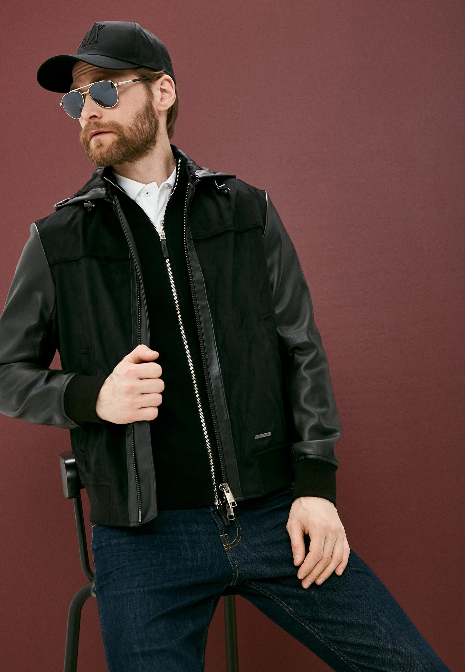 Кожаная куртка Armani Exchange 3KZB03 ZE1AZ: изображение 2