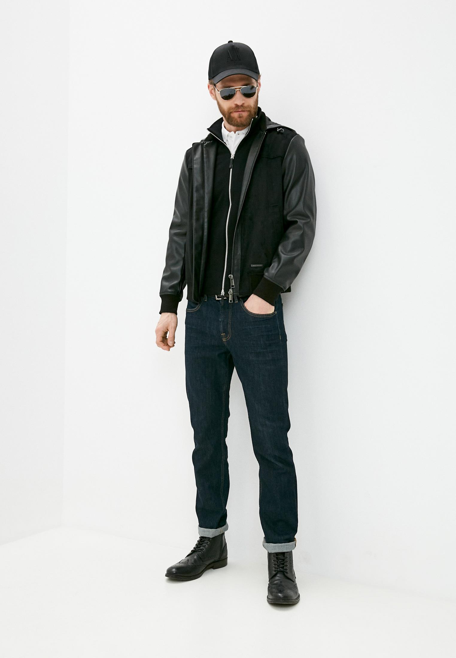 Кожаная куртка Armani Exchange 3KZB03 ZE1AZ: изображение 3