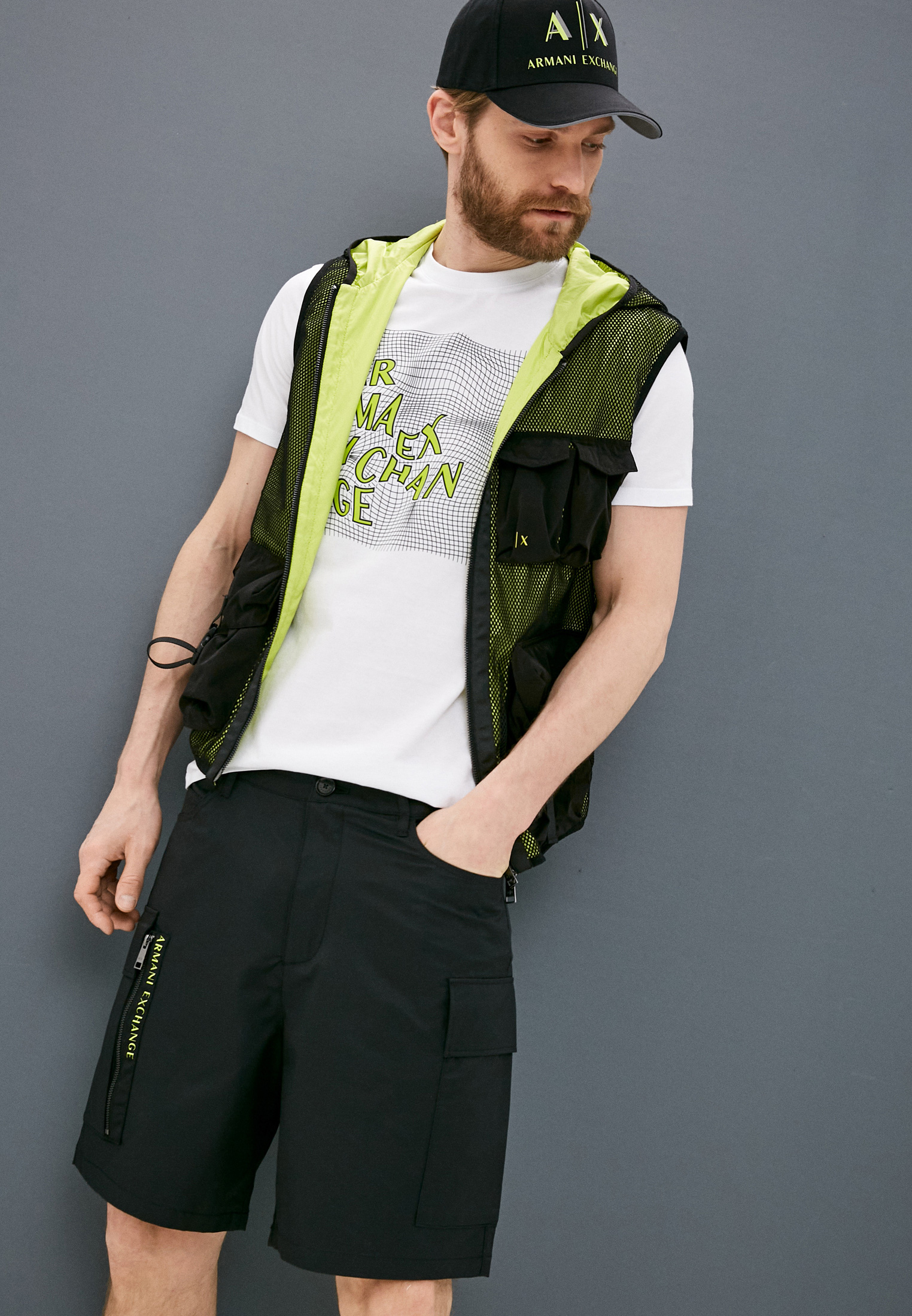 Мужские повседневные шорты Armani Exchange 3KZS03 ZNJ8Z: изображение 2