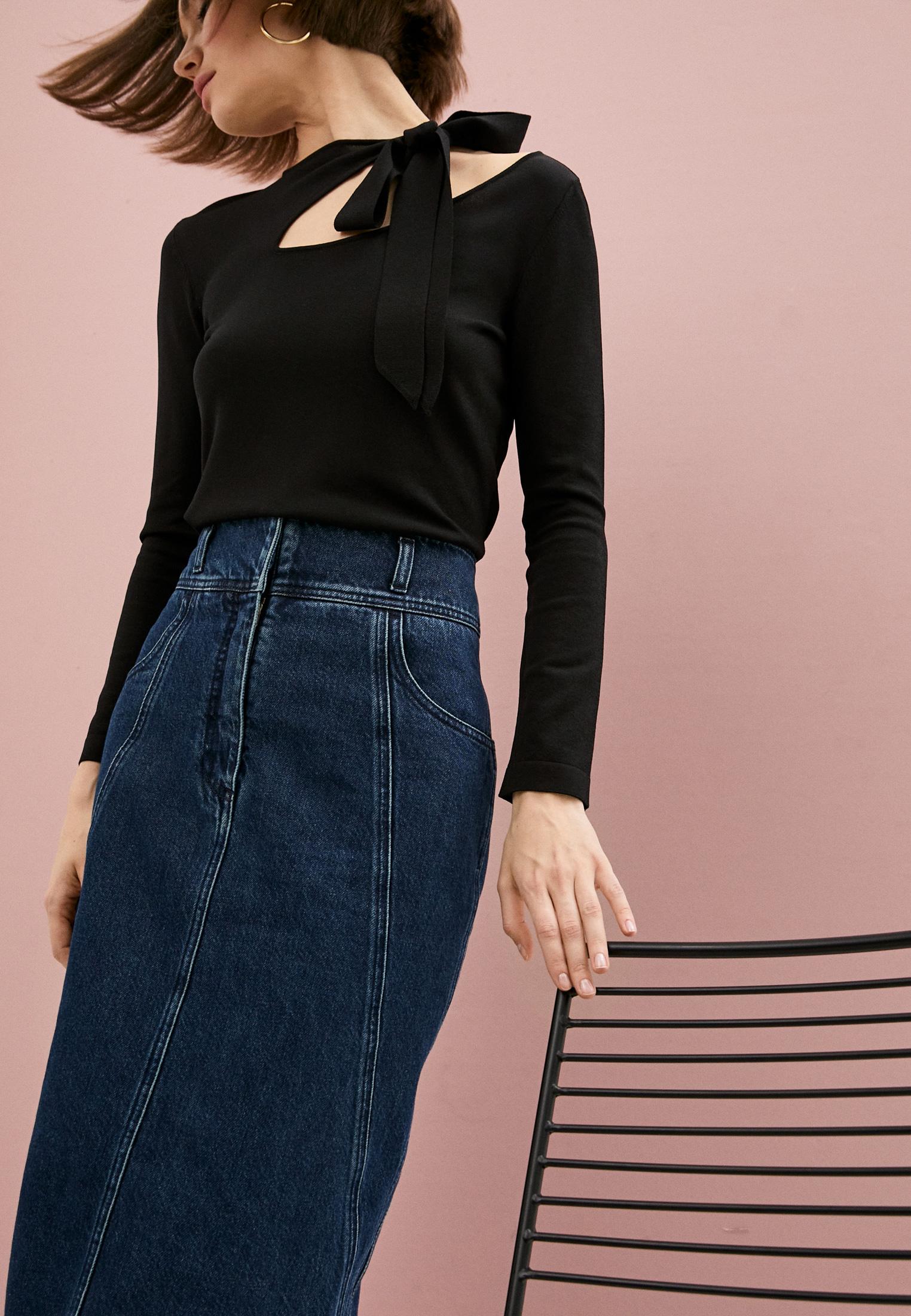 Джинсовая юбка Alberta Ferretti A01131678: изображение 2