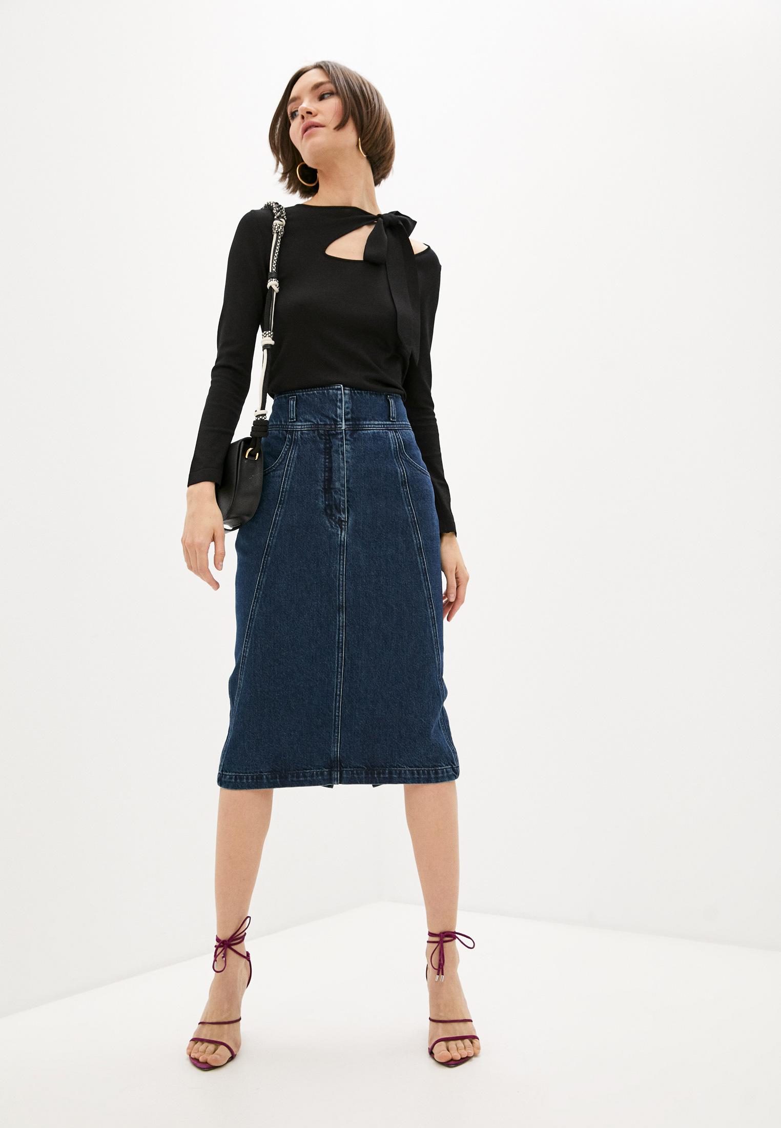 Джинсовая юбка Alberta Ferretti A01131678: изображение 3
