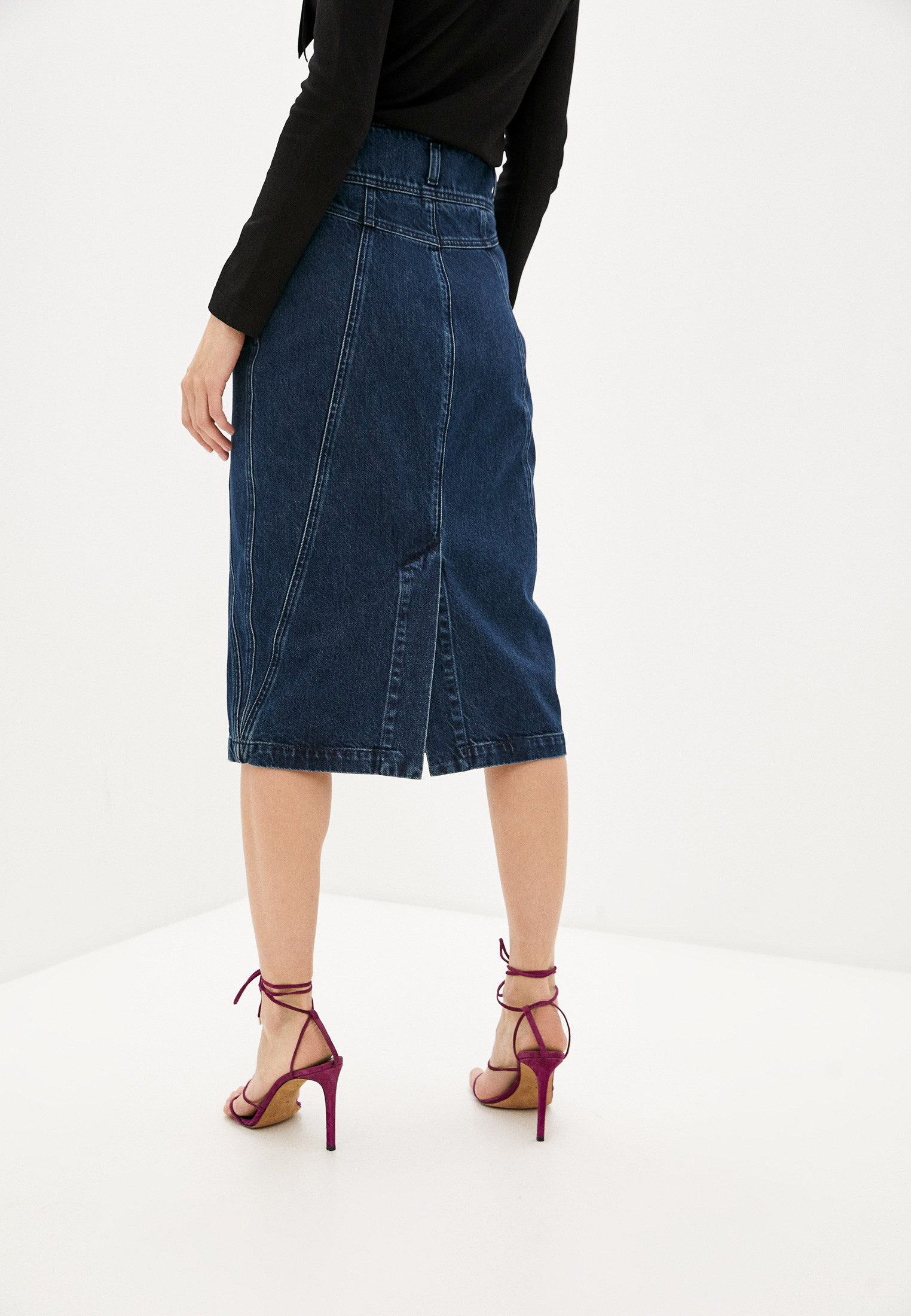 Джинсовая юбка Alberta Ferretti A01131678: изображение 4