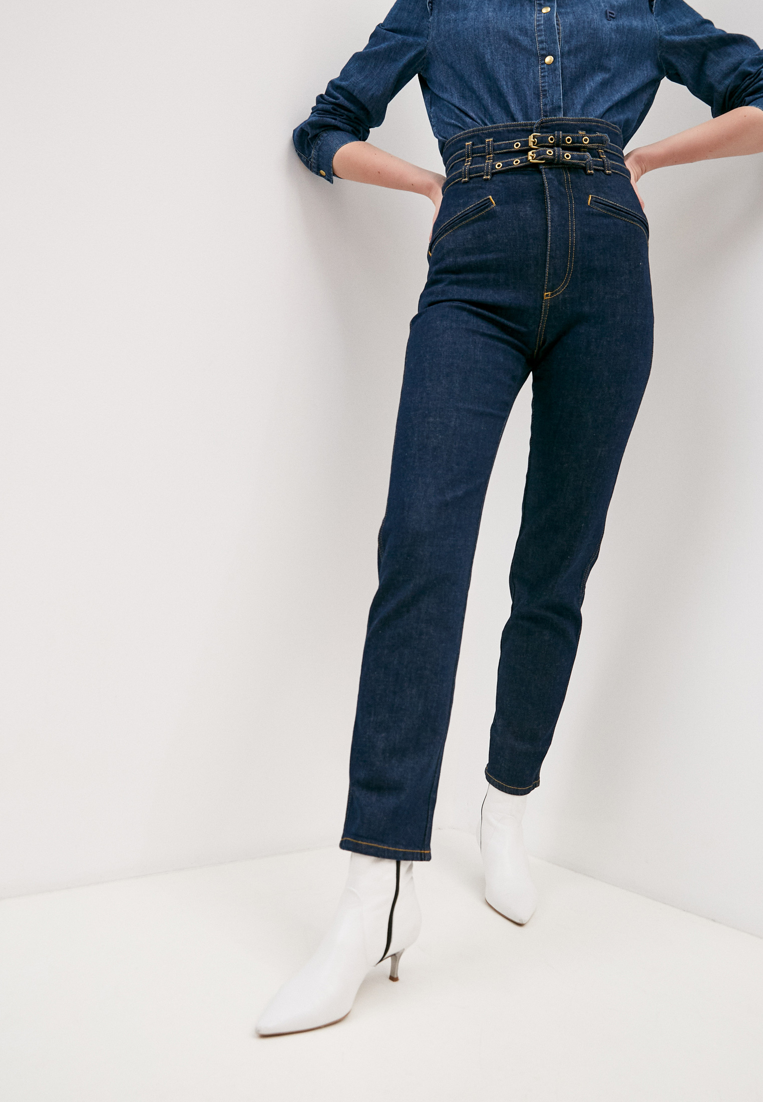 Широкие и расклешенные джинсы PHILOSOPHY DI LORENZO SERAFINI A0308730