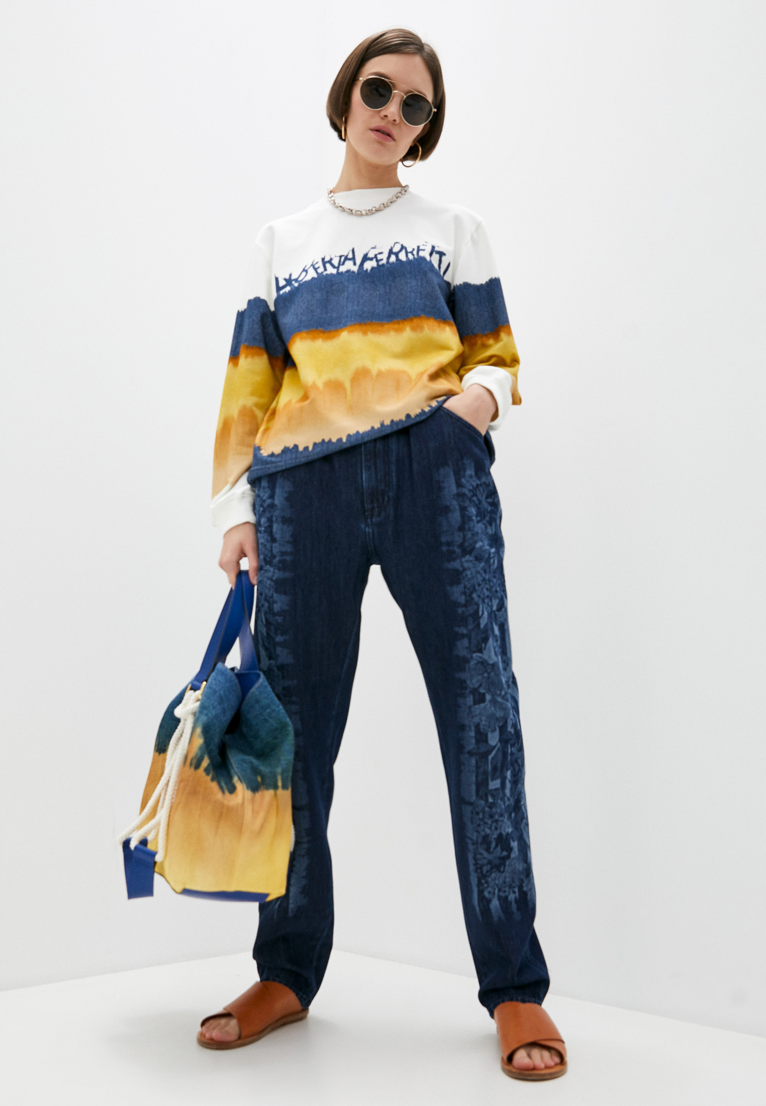 Прямые джинсы Alberta Ferretti A03131678: изображение 3