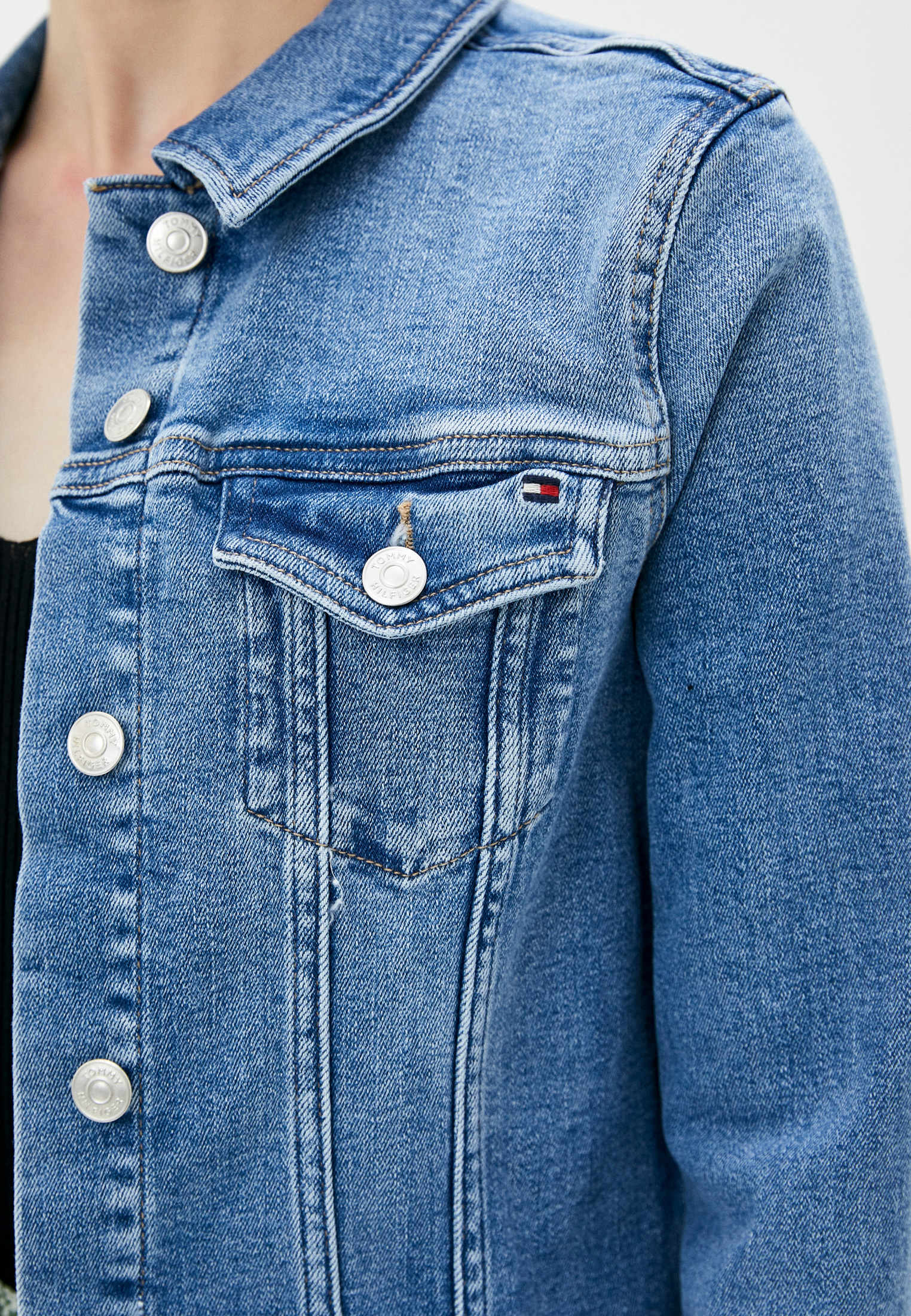 Джинсовая куртка Tommy Hilfiger (Томми Хилфигер) WW0WW30162: изображение 4