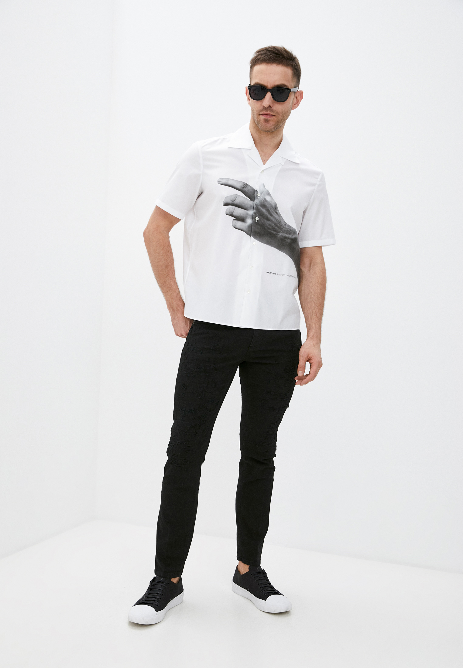Зауженные джинсы Neil Barrett PBDE314X-Q805T: изображение 3
