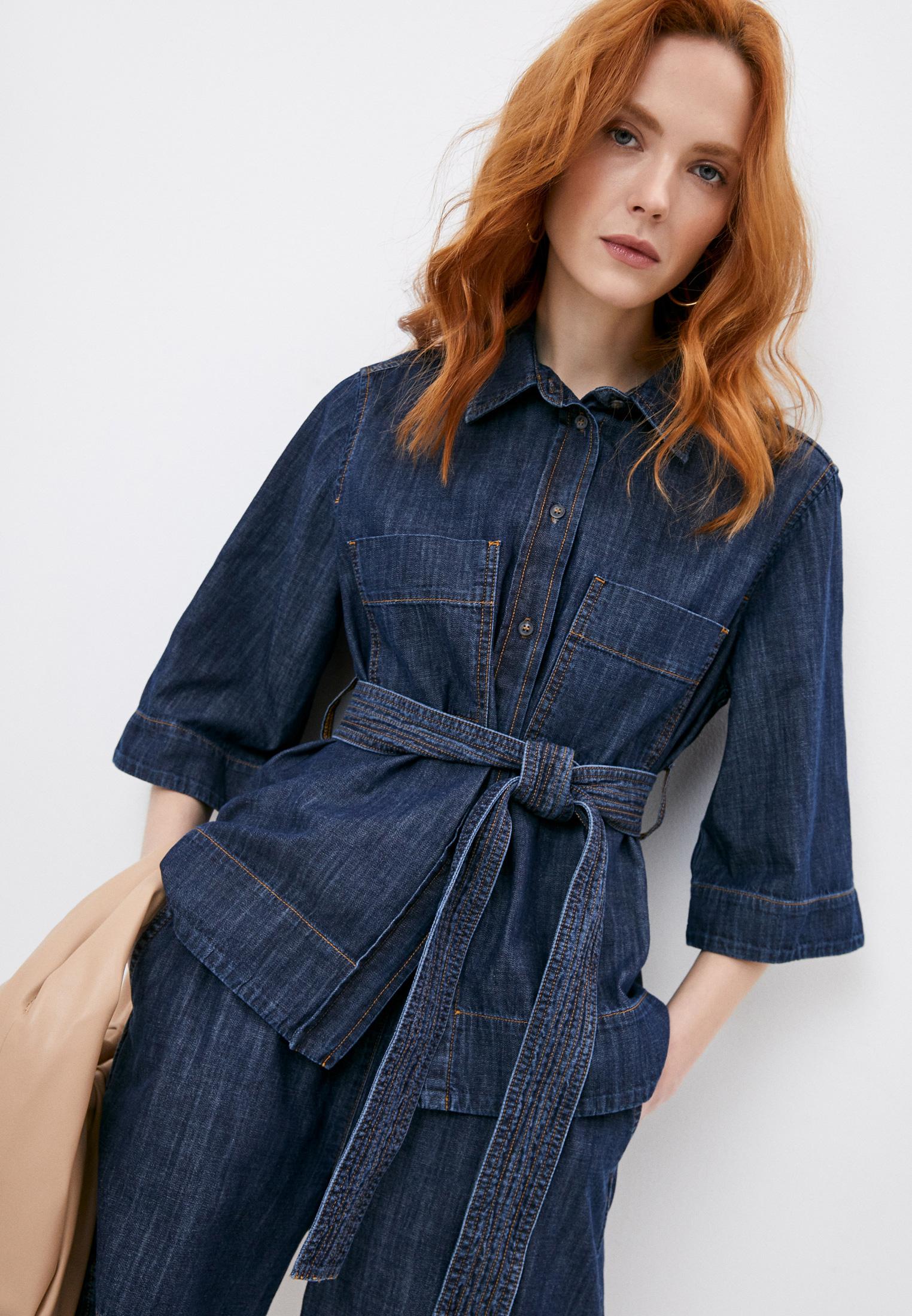 Женские джинсовые рубашки P.A.R.O.S.H. CHAMBRAYD381024